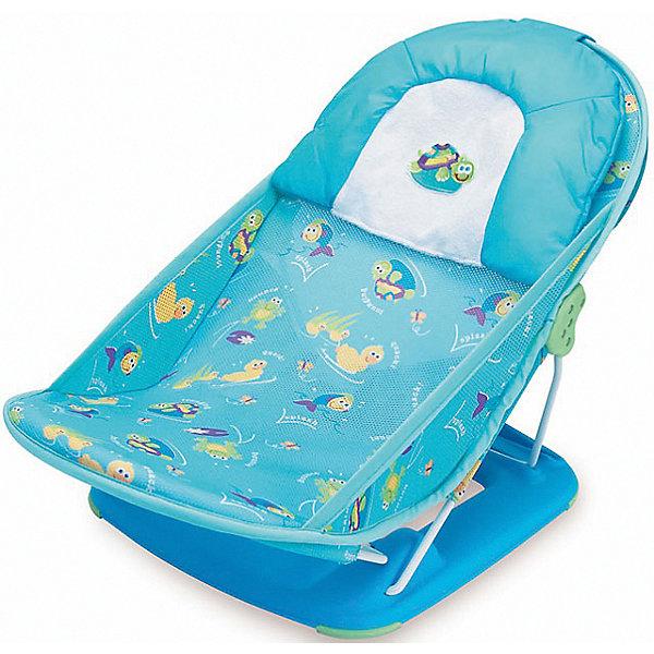 Лежак для купания Deluxe Baby Bather, Summer Infant, голубойТовары для купания<br>Лежак для купания Deluxe Baby Bather, Summer Infant, поможет сделать купание Вашего малыша комфортным и безопасным. Конструкция прочно удерживается в ванной с помощью широкого прорезиненного основания и гарантирует малышу поддержку и комфортное положение во время купания. Для правильного положения новорожденного спинка регулируется в двух положениях. Мягкий подголовник и защитный бортик под ножками обеспечивают необходимую дополнительную поддержку со всех сторон. Мягкая сетчатая ткань лежака легко снимается для чистки или машинной стирки. Лежак имеет небольшой вес, легко и компактно складывается и не занимает много места при хранении. Рекомендовано для детей от 0 до 3 месяцев (максимальная нагрузка - 9 кг.).<br><br>Дополнительная информация:<br><br>- Цвет: голубой.<br>- Возраст: 0-3 месяца.<br>- Материал: высококачественный пластик, текстиль, металл.<br>- Размер лежака: 34 х 32 х 55 см. <br>- Размер упаковки: 37 х 8 х 33 см.<br>- Вес: 1,3 кг.<br><br>Лежак для купания Deluxe Baby Bather, Summer Infant, голубой можно купить в нашем интернет-магазине.<br>Ширина мм: 450; Глубина мм: 320; Высота мм: 420; Вес г: 200; Возраст от месяцев: 0; Возраст до месяцев: 3; Пол: Унисекс; Возраст: Детский; SKU: 4722153;