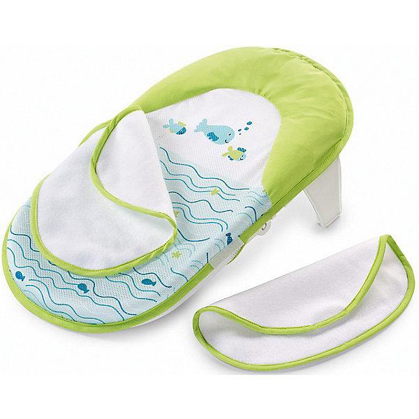 Лежачок для купания Bath Sling, Summer InfantТовары для купания<br>Лежачок для купания Bath Sling, Summer Infant, поможет сделать купание Вашего малыша комфортным и безопасным. Конструкция прочно удерживается в ванной с помощью двух устойчивых ножек. Прочная база лежачка и мягкий подголовник обеспечивают комфортное положение во время купания. Съемные тканные крылья-покрывала можно использовать как мочалку для купания. Мягкая сетчатая ткань лежака легко снимается для чистки или машинной стирки. Лежак имеет небольшой вес, легко и компактно складывается и не занимает много места при хранении. Рекомендовано для детей от 0 до 3 месяцев (максимальная нагрузка - 9 кг.).<br><br>Дополнительная информация:<br><br>- Возраст: 0-3 месяца.<br>- Материал: высококачественный пластик, текстиль.<br>- Размер: 55 х 23 х 34 см. <br>- Вес: 1,3 кг.<br><br>Лежачок для купания Bath Sling, Summer Infant, можно купить в нашем интернет-магазине.<br>Ширина мм: 450; Глубина мм: 320; Высота мм: 420; Вес г: 200; Возраст от месяцев: 0; Возраст до месяцев: 3; Пол: Унисекс; Возраст: Детский; SKU: 4722154;