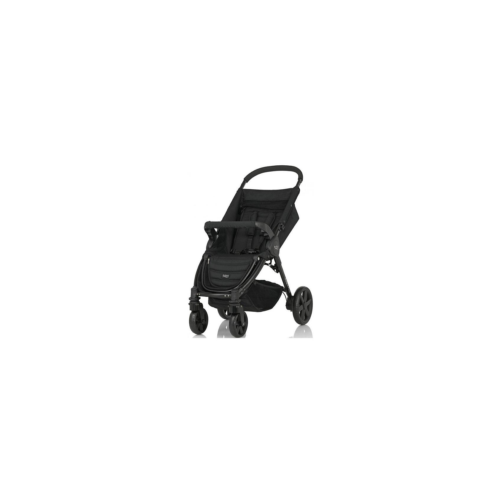 Прогулочная коляска Britax B-AGILE 4 Plus, Cosmos BlackПрогулочные коляски<br>Коляска B-AGILE 4 Plus - прекрасный вариант для прогулок, путешествий и активного отдыха! Коляска имеет систему амортизации, передние поворотные колеса, небольшую ширину алюминиевой рамы, что гарантирует удобство, манёвренность и проходимость. Модель легко складывается одной рукой, имеет ножной тормоз и автоматическую блокировку складывания. Удобное сиденье эргономичной формы, подножка и регулируемая спинка обеспечат малышу спокойный и комфортный отдых, а пятиточечные страховочные ремни с мягкими накладками и съемный бампер  гарантируют безопасность. <br><br>Дополнительная информация:<br><br>- Материал: алюминий, пластик, резина, текстиль.<br>- Тип складывания: книжка.<br>- Размер: 101х58х89 см.<br>- Размер в сложенном виде: 41х58х73,5 см<br>- Размер сиденья: 24х29 см. <br>- Высота ручки: 100 см. <br>- Вес: 9,5 кг.<br>- Диаметр колес: заднее - 22,5 см;  переднее - 13,5 см.<br>- Передние поворотные колеса с фиксацией.<br>- Возможность установки на шасси коляски люльки или автокресла группы 0+.<br>- Ножной тормоз.<br>- Регулируемый наклон спинки (до положения лежа).<br>- Пятиточечные ремни безопасности.<br>- Регулируемая подножка.<br>- Съемный бампер. <br>- Корзина для вещей.<br>- Капюшон продается отдельно. <br>- Максимальная нагрузка: 22 кг .<br><br>Прогулочную коляску B-AGILE 4 Plus, Britax (Бритакс), Cosmos Black, можно купить в нашем магазине.<br><br>Ширина мм: 250<br>Глубина мм: 460<br>Высота мм: 825<br>Вес г: 9500<br>Возраст от месяцев: 0<br>Возраст до месяцев: 48<br>Пол: Унисекс<br>Возраст: Детский<br>SKU: 4722157