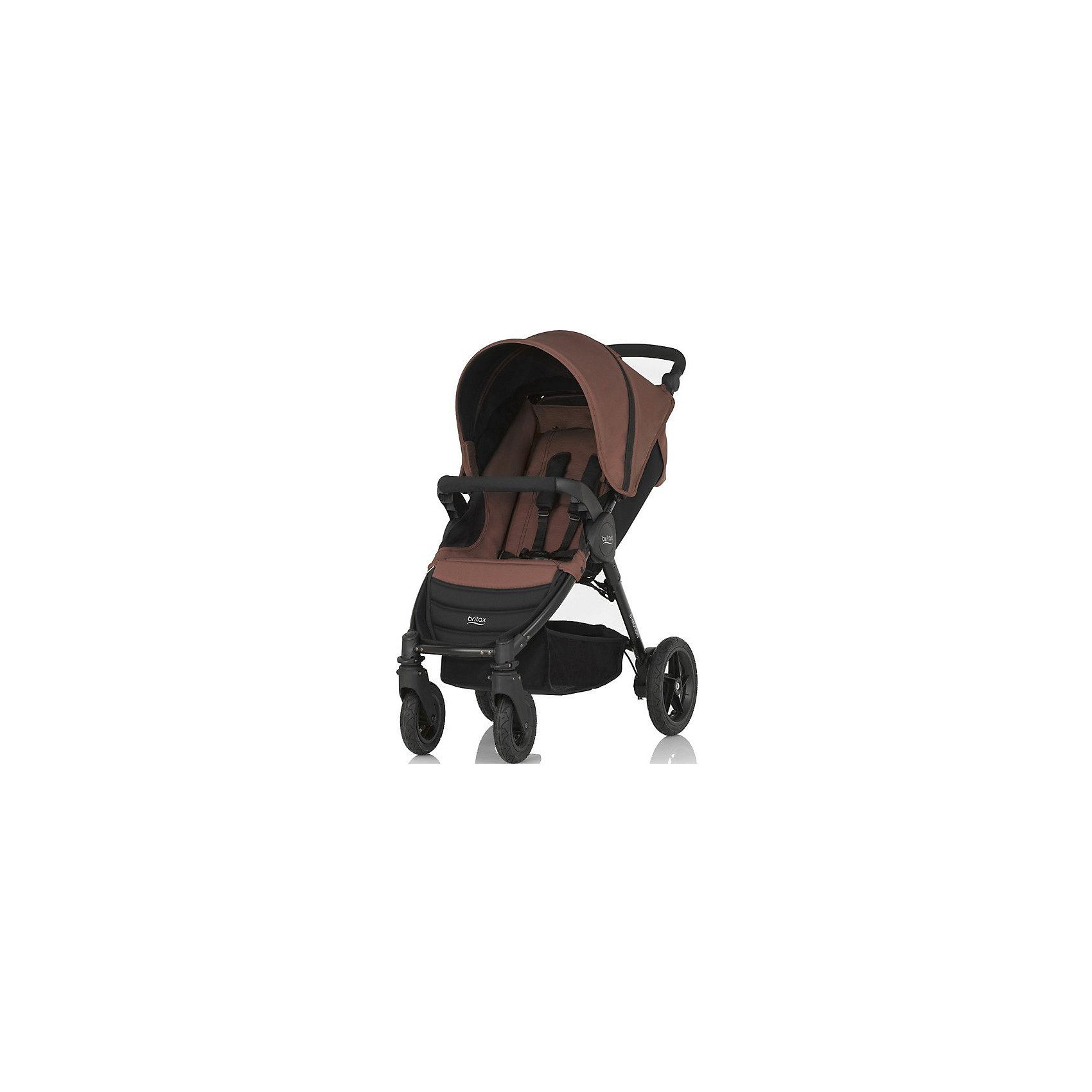 Прогулочная коляска B-Motion 4, Britax, Wood BrownКоляска B-Motion 4, Britax - прекрасный вариант для прогулок, путешествий и активного отдыха! Коляска имеет систему амортизации, передние поворотные колеса, небольшую ширину алюминиевой рамы, что гарантирует удобство, манёвренность и проходимость. Модель легко складывается одной рукой, имеет ножной тормоз и автоматическую блокировку складывания. Удобное сиденье эргономичной формы, подножка и регулируемая спинка обеспечат малышу спокойный и комфортный отдых, а пятиточечные страховочные ремни с мягкими накладками и съемный бампер  гарантируют безопасность. Благодаря встроенным переходникам Click&amp;Go на шасси коляски можно легко и быстро установить люльку или детское автокресло Baby-Safe, Baby-Safe Sleeper.<br><br>Дополнительная информация:<br><br>- Материал: алюминий, пластик, резина, текстиль.<br>- Тип складывания: книжка.<br>- Размер: 105?58?100  см.<br>- Размер в сложенном виде: 27х58х70 см<br>- Размер сиденья: 24х29 см. <br>- Ширина шасси: 58 см.<br>- Ширина сиденья: 35 см. <br>- Вес: 10,5 кг.<br>- Диаметр колес: заднее - 22,5 см;  переднее - 13,5 см.<br>- Регулируемая высота ручки. <br>- Передние поворотные колеса с фиксацией.<br>- Возможность установки на шасси коляски люльки или автокресла группы 0+.<br>- Ножной тормоз.<br>- Регулируемый наклон спинки (до положения лежа).<br>- Пятиточечные ремни безопасности.<br>- Регулируемая подножка.<br>- Съемный бампер. <br>- Корзина для вещей.<br>- Максимальная нагрузка: 20 кг .<br><br>Прогулочную коляску B-Motion 4, Britax (Бритакс), Wood Brown, можно купить в нашем магазине.<br><br>Ширина мм: 700<br>Глубина мм: 380<br>Высота мм: 270<br>Вес г: 10500<br>Возраст от месяцев: 0<br>Возраст до месяцев: 48<br>Пол: Унисекс<br>Возраст: Детский<br>SKU: 4722159