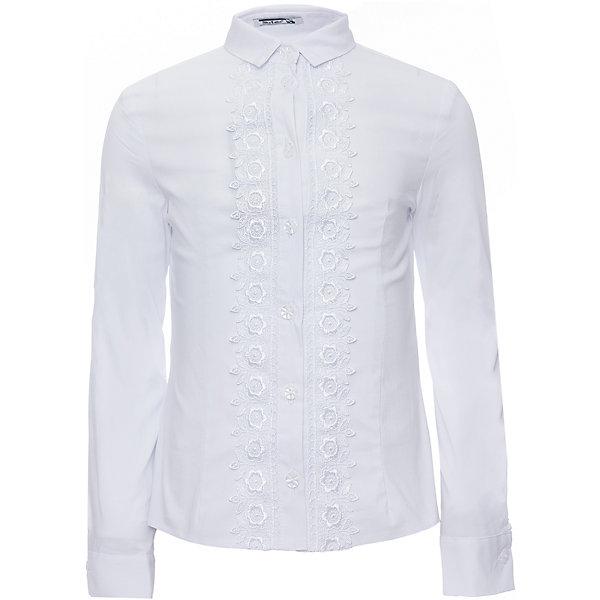 Блуза для девочки Маргарита SkylakeБлузки и рубашки<br>Блуза для девочки Маргарита от известного бренда Skylake<br>Блузка  прилегающего  силуэта для девочек младшего и среднего возраста.<br>Изготовлена из  смесовой хлопковой ткани белого цвета.<br>Блузка  с  застежкой   спереди на планку с пуговицами.<br>Планка  украшена  с двух сторон тесьмой-кружевом.<br>Воротник отложной на отрезной стойке с концами острой формы. <br>Рукава  втачные длинные на манжетах.<br>Состав:<br>74%хлопок,23%п/э,3%лайкра (ПУ)<br><br>Ширина мм: 186<br>Глубина мм: 87<br>Высота мм: 198<br>Вес г: 197<br>Цвет: белый<br>Возраст от месяцев: 84<br>Возраст до месяцев: 96<br>Пол: Женский<br>Возраст: Детский<br>Размер: 128,152,146,140,134<br>SKU: 4723344