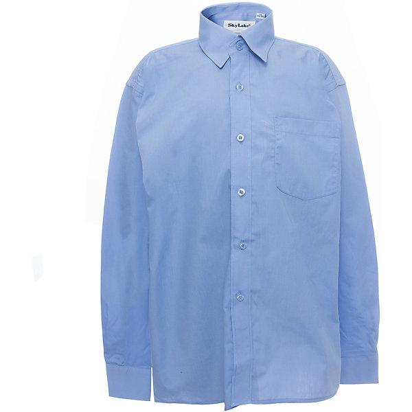 Рубашка для мальчика SkylakeБлузки и рубашки<br>Характеристики товара:<br><br>• цвет: синий<br>• материал: 80% полиэстер, 20% полиэстер<br>• классический силуэт<br>• отложной воротник<br>• застежки: пуговицы<br>• легкий уход <br>• страна бренда: Российская Федерация<br>• страна производства: Российская Федерация<br><br>Школьная рубашка для мальчика. Рубашка с длинным рукавом, с накладным карманом на груди. Классическая рубашка синего цвета застегивается на пуговицы. Однотонная рубашка с отложным воротничком.<br><br>Это изделие сшито из качественного материала, хорошо сидит на детской фигуре, легко стирается.<br><br>Рубашку для мальчика PREMIUM от бренда SKY LAKE (Скай Лэйк) можно купить в нашем интернет-магазине.<br><br>Ширина мм: 174<br>Глубина мм: 10<br>Высота мм: 169<br>Вес г: 157<br>Цвет: синий<br>Возраст от месяцев: 132<br>Возраст до месяцев: 144<br>Пол: Мужской<br>Возраст: Детский<br>Размер: 152,122,158,146,140,134,128<br>SKU: 4723370
