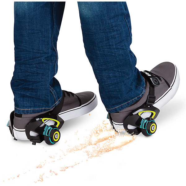 Ролики на обувь Jetts, зелёный, RazorРолики<br>Мечтали о лёгких прочных компактных роликах? Теперь это реальность! Всё благодаря роликам Razor Jetts!<br>Новинка крепится к ботинкам с помощью ремней. Стоит отметить, что подобные прикрепляемые колеса для детской обуви появились на рынке уже довольно давно, однако Razor сделал ставку на взрослых райдеров, а также на уникальную и удобную конструкцию крепления к обуви. <br>Теперь можно с лёгкостью превратить любые кроссовки в ролики за считанные секунды — нужно лишь хорошо затянуть ремни, обеспечив плотное прилегание к обуви. Что касается веса «роллера», то здесь есть ограничение — 80 кг. Отдельного внимания заслуживает тот факт, что ролики Jetts могут искрить, когда задняя часть платформы оказывается под прямым углом по отношению к поверхности дороги. Только представьте себе - искры, которые высекаются из-под ваших пяток, и при этом это всё по-американски безопасно!<br><br>Дополнительная информация:<br><br>Подходит под рост от 100 до 200 см.<br>Вес роликов всего 550 грамм<br>Максимальная нагрузка 80 кг.<br>Подходит под детскую обувь до 29 размера и взрослую обувь до 46 размера<br>Быстросъёмный и заменяющийся искрящий элемент<br>Сверхпрочный регулируемый ремешок<br>Полиуретановые колёса диаметром 50 мм.<br>Быстрые и плавные фирменные подшипники RZR<br>Сборка не требуется<br><br>Ролики на обувь Jetts, зелёный, Razor можно купить в нашем магазине.<br>Ширина мм: 150; Глубина мм: 150; Высота мм: 120; Вес г: 550; Возраст от месяцев: 72; Возраст до месяцев: 192; Пол: Унисекс; Возраст: Детский; SKU: 4723819;