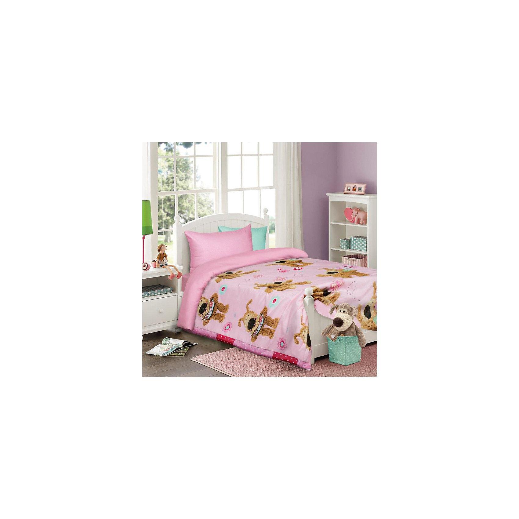 Постельное белье детское Буфл, 1,5-спальный (на розовом, 50*70)Прекрасный комплект постельного белья с яркими и красочными персонажами любимых мультфильмов.<br><br>Дополнительная информация:<br><br>- Используется только высококачественный материал и безопасные красители<br>- Ткань - бязь (100% хлопок),<br>- Производство: Россия. Товар сертифицирован.<br>-  Размер:  Пододеяльник 145х210; простынь, 150х215; наволочка 50х70. <br>Размер в упаковке: 25х4,5х33 см.<br>Вес в упаковке: 1150 г.<br><br>Сделайте  приятный сюрприз своему малышу!<br><br>Детский комплект Boofle на розовом можно купить в нашем магазине.<br><br>Ширина мм: 250<br>Глубина мм: 45<br>Высота мм: 330<br>Вес г: 1150<br>Возраст от месяцев: 36<br>Возраст до месяцев: 144<br>Пол: Женский<br>Возраст: Детский<br>SKU: 4724679