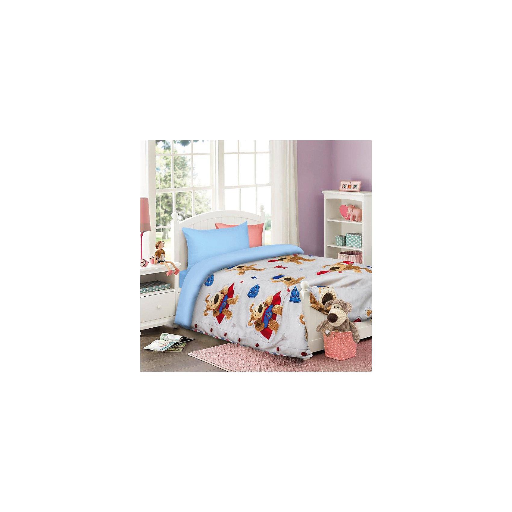 Постельное белье детское Буфл, 1,5-спальный (на сером, 50*70)Домашний текстиль<br>Прекрасный комплект постельного белья с яркими и красочными персонажами любимых мультфильмов.<br><br>Дополнительная информация:<br><br>- Используется только высококачественный материал и безопасные красители<br>- Ткань - бязь (100% хлопок),<br>- Производство: Россия. Товар сертифицирован.<br>- Размер:  Пододеяльник 145х210; простынь, 150х215; наволочка 50х70. <br>Размер в упаковке: 25х4,5х33 см.<br>Вес в упаковке: 1150 г.<br><br>Сделайте  приятный сюрприз своему малышу!<br><br>Детский комплект Boofle на сером можно купить в нашем магазине.<br><br>Ширина мм: 250<br>Глубина мм: 45<br>Высота мм: 330<br>Вес г: 1150<br>Возраст от месяцев: 36<br>Возраст до месяцев: 144<br>Пол: Мужской<br>Возраст: Детский<br>SKU: 4724680