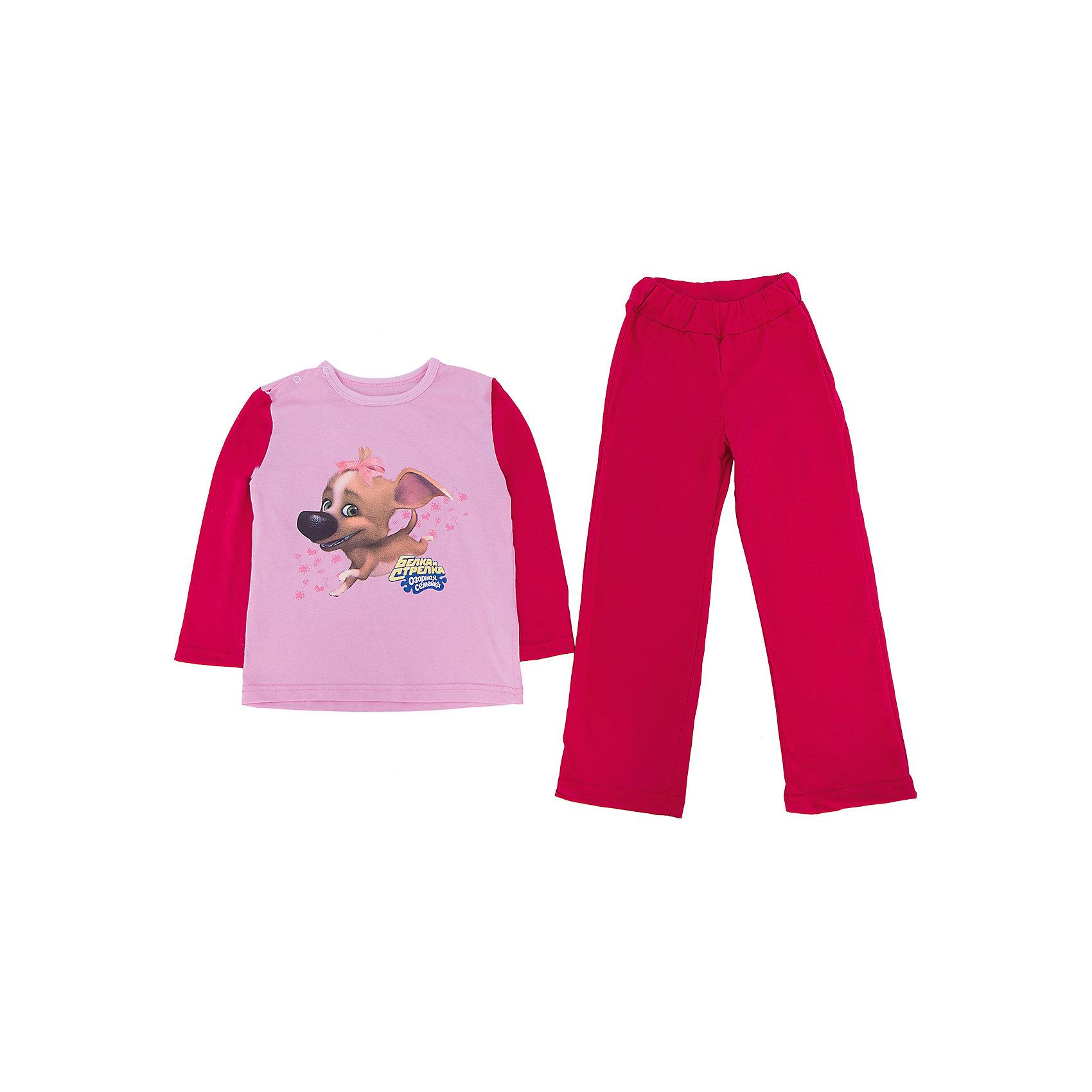 Пижама для девочки KotMarKotПижамы и сорочки<br>Пижама с изображением героя из мультсериала Озорная семейка, ткань кулирка. 100% хлопок<br><br>Ширина мм: 281<br>Глубина мм: 70<br>Высота мм: 188<br>Вес г: 295<br>Цвет: розовый<br>Возраст от месяцев: 18<br>Возраст до месяцев: 24<br>Пол: Женский<br>Возраст: Детский<br>Размер: 92,98,104,110,116,122<br>SKU: 4725045