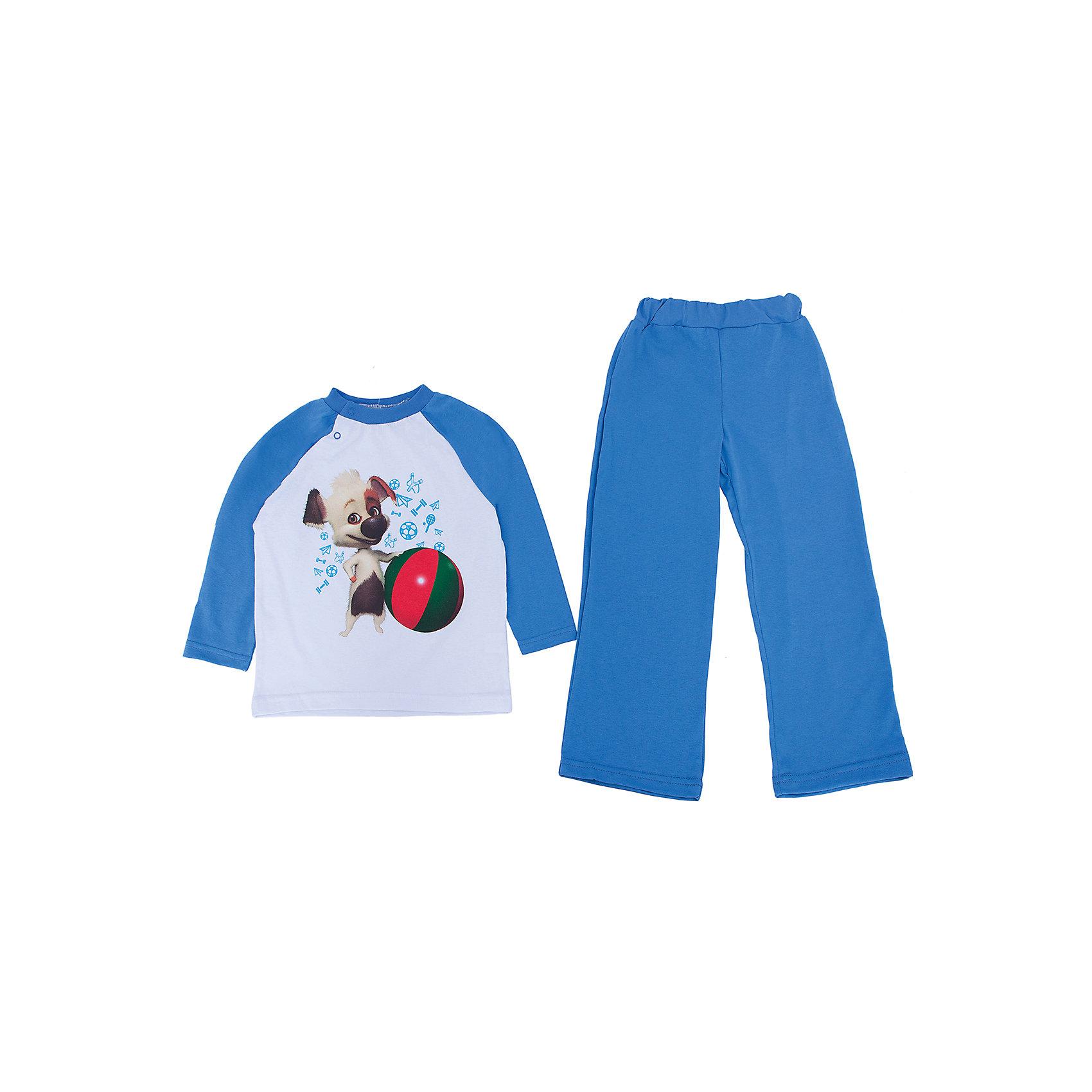 Пижама КотМарКот для мальчикаПижамы и сорочки<br>Пижама с изображением героя из мультсериала Озорная семейка, ткань кулирка. 100% хлопок<br><br>Ширина мм: 230<br>Глубина мм: 40<br>Высота мм: 220<br>Вес г: 250<br>Цвет: синий<br>Возраст от месяцев: 18<br>Возраст до месяцев: 24<br>Пол: Мужской<br>Возраст: Детский<br>Размер: 110,116,92,122,98,104<br>SKU: 4725101