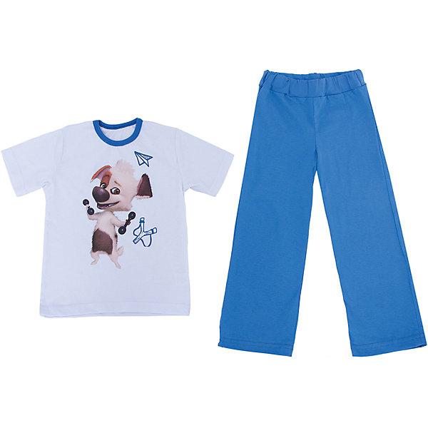 Пижама KotMarKot для мальчикаПижамы и сорочки<br>Пижама с изображением героя из мультсериала Озорная семейка, ткань кулирка. 100% хлопок<br><br>Ширина мм: 281<br>Глубина мм: 70<br>Высота мм: 188<br>Вес г: 295<br>Цвет: синий<br>Возраст от месяцев: 18<br>Возраст до месяцев: 24<br>Пол: Мужской<br>Возраст: Детский<br>Размер: 92,110,98,104,122,116<br>SKU: 4725108