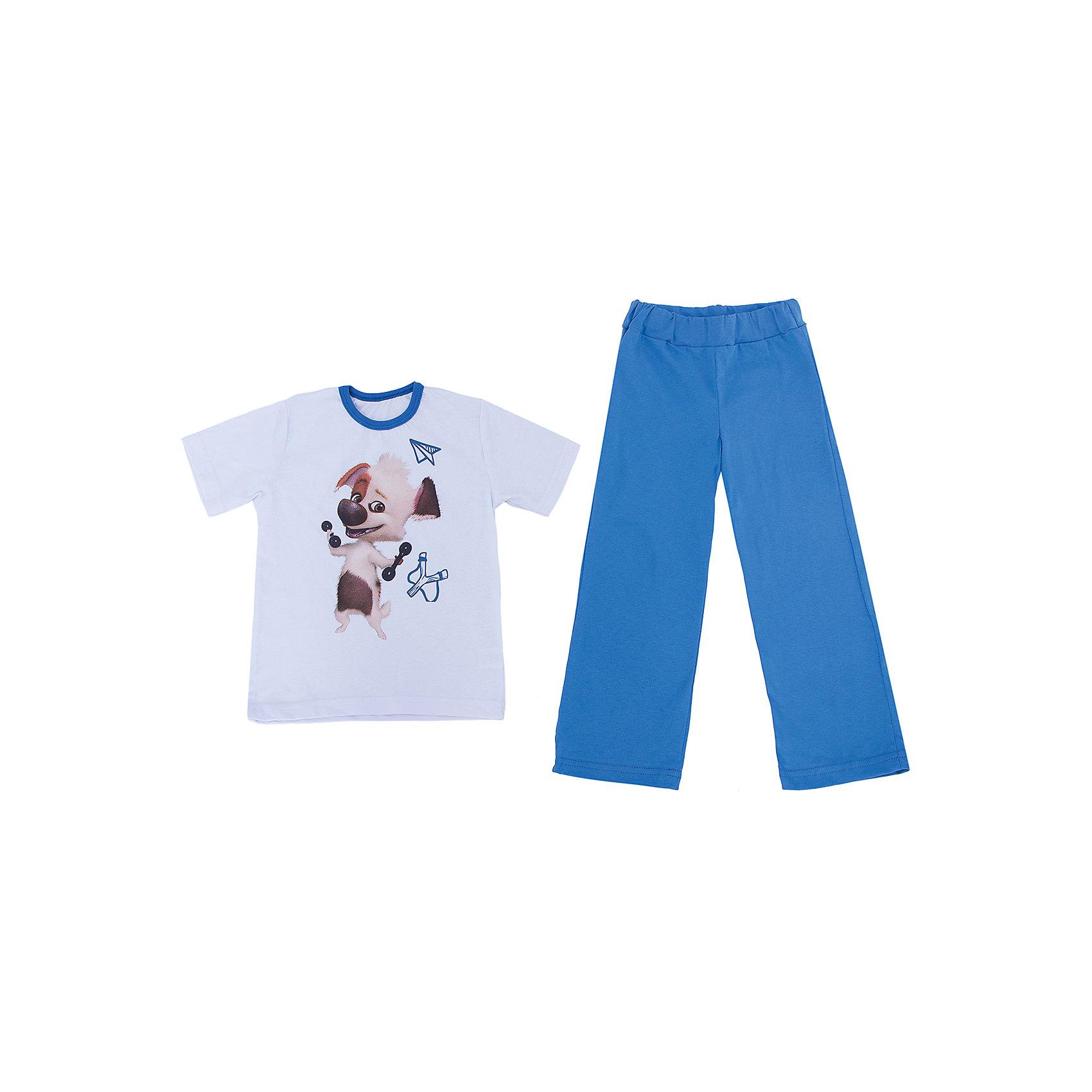 Пижама KotMarKot для мальчикаПижамы и сорочки<br>Пижама с изображением героя из мультсериала Озорная семейка, ткань кулирка. 100% хлопок<br><br>Ширина мм: 281<br>Глубина мм: 70<br>Высота мм: 188<br>Вес г: 295<br>Цвет: синий<br>Возраст от месяцев: 36<br>Возраст до месяцев: 48<br>Пол: Мужской<br>Возраст: Детский<br>Размер: 104,122,92,98,110,116<br>SKU: 4725108