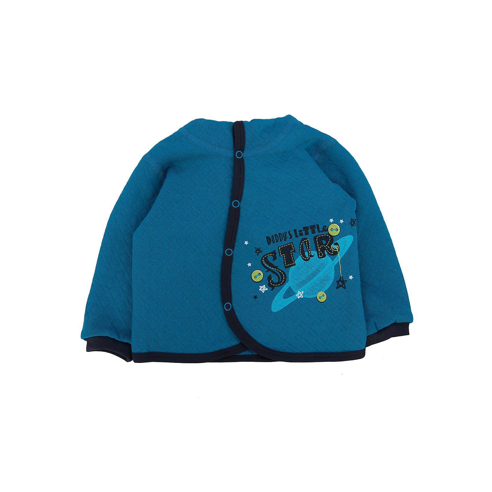 Толстовка для мальчика  АпрельТолстовки<br>Толстовка Апрель<br>Толстовка с манжетами на рукавах и капюшоном коллекции Собака в космосе от компании Апрель - идеальный вариант одежды на каждый день в прохладное время года. Куртка легко одевается и застегивается на кнопки. Изготовлена из утепленного, трехслойного трикотажного полотна с эффектом стежки в виде ромба – капитония (100% хлопок). Мягкая приятная на ощупь куртка прекрасно согреет ребенка в прохладную погоду.<br><br>Дополнительная информация:<br><br>- Цвет: темная бирюза<br>- Ткань: капитония<br>- Состав: 100% хлопок<br><br>Куртку Апрель можно купить в нашем интернет-магазине.<br><br>Ширина мм: 215<br>Глубина мм: 88<br>Высота мм: 191<br>Вес г: 336<br>Цвет: бирюзовый<br>Возраст от месяцев: 6<br>Возраст до месяцев: 9<br>Пол: Унисекс<br>Возраст: Детский<br>Размер: 74<br>SKU: 4726198