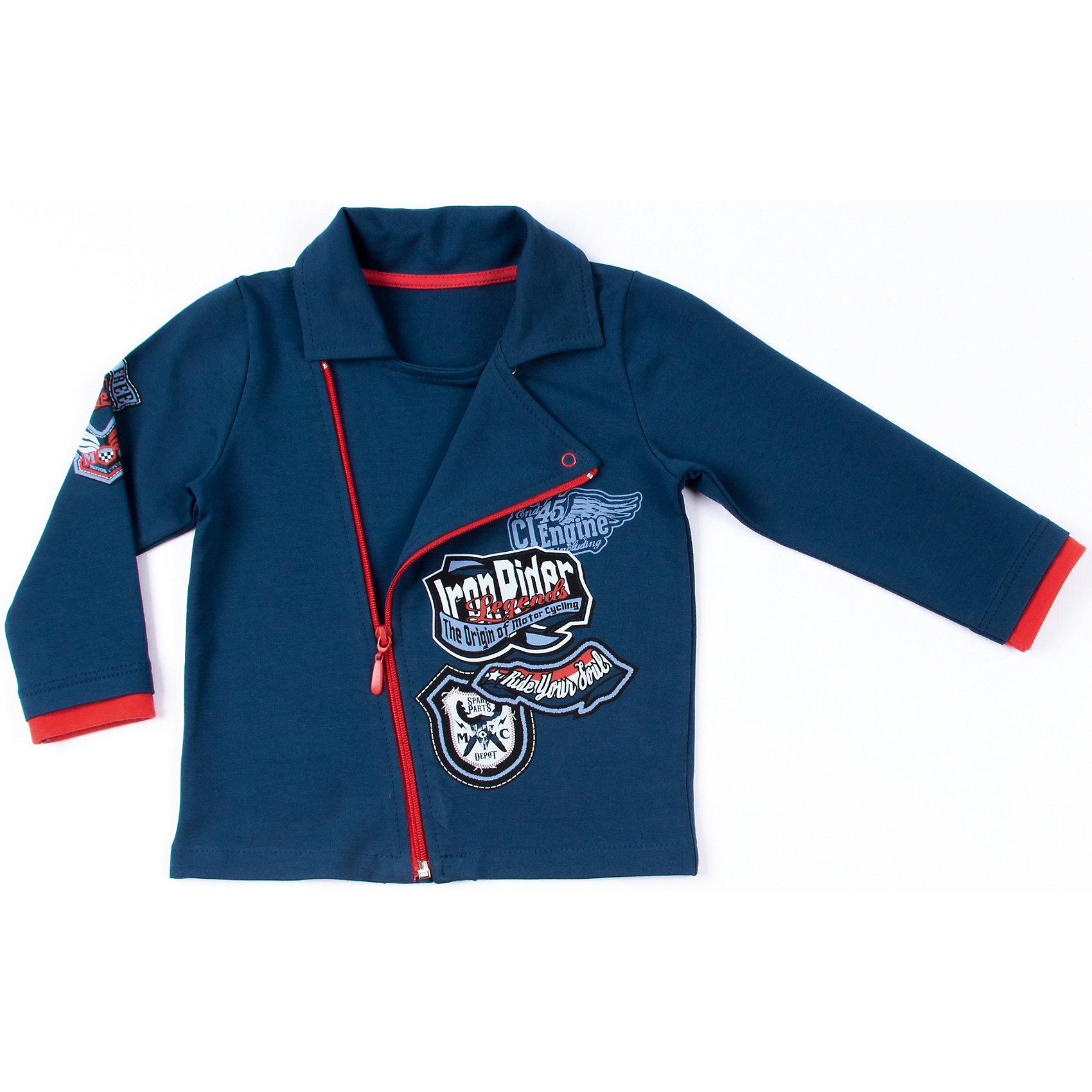 Толстовка для мальчика АпрельКуртка Апрель<br>Куртка из коллекции Маленький байкер от торговой марки Апрель - идеальный вариант одежды на каждый день в прохладное время года. Стильная куртка выполнена в синем цвете, украшена оригинальным принтом в байкерском стиле. Куртка застегивается на молнию. Изготовлена из натуральной хлопчатобумажной ткани – футер. Футер - это удивительно комфортная гладкая с внешней стороны, мягкая и нежная - с внутренней стороны ткань. Небольшое добавление лайкры оберегает изделие от образования складок.<br><br>Дополнительная информация:<br><br>- Пол: мальчик<br>- Цвет: синий<br>- Ткань: футер петельчатый<br>- Состав: 95% хлопок, 5% лайкра<br><br>Куртку Апрель можно купить в нашем интернет-магазине.<br><br>Ширина мм: 215<br>Глубина мм: 88<br>Высота мм: 191<br>Вес г: 336<br>Цвет: синий<br>Возраст от месяцев: 12<br>Возраст до месяцев: 18<br>Пол: Мужской<br>Возраст: Детский<br>Размер: 86,98,110,104<br>SKU: 4726395