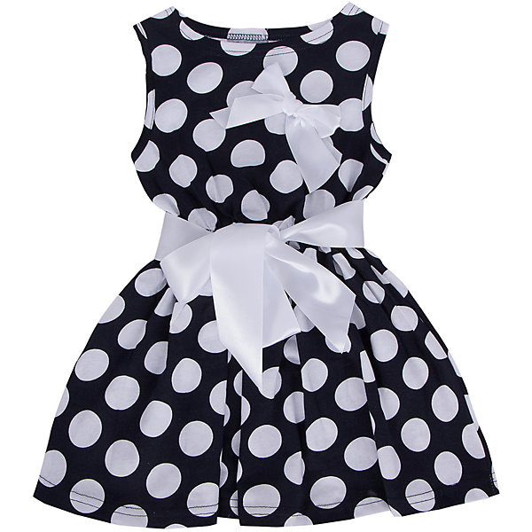 Платье для девочки АпрельПлатья и сарафаны<br>Платье Апрель<br>Платье в горошек с поясом декорированное бантом приведет в восторг юных модниц. Платье изготовлено из тонкого прочного хлопкового трикотажного полотна - кулир. Детская одежда из кулира отлично пропускает воздух, что идеально подходит для жаркого и знойного лета. Приятная на ощупь ткань исключит риск возникновения аллергии или раздражения при соприкосновении с нежной детской кожей. Простота в уходе делает изделие отличным вариантом для повседневного гардероба ребёнка. Дети очень активны и подвижны, а благодаря современным лекалам, используемым при производстве модели, ваше чадо будет свободно двигаться, и принимать активное участие в играх. Новейшее оборудование на производстве обеспечивает надёжность шва и длительный срок службы одежды.<br><br>Дополнительная информация:<br><br>- Сезон: лето<br>- Комплектация:  пояс, платье, бант<br>- Цвет: темно-синий, белый<br>- Без рукавов<br>- Без застежек<br>- Длина юбки: мини<br>- Без карманов<br>- По назначению: повседневный стиль<br>- Ткань: кулир<br>- Состав: 100 % хлопок<br><br>Платье Апрель можно купить в нашем интернет-магазине.<br><br>Ширина мм: 236<br>Глубина мм: 16<br>Высота мм: 184<br>Вес г: 177<br>Цвет: синий<br>Возраст от месяцев: 36<br>Возраст до месяцев: 48<br>Пол: Женский<br>Возраст: Детский<br>Размер: 104,98,134,140,128,122,116,110<br>SKU: 4726411