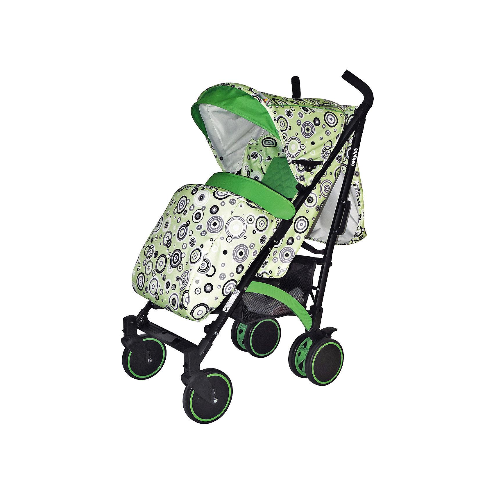 Коляска-трость BabyHit Rainbow, зеленыйКоляски-трости<br>Дополнительная информация:<br><br>Спинка сиденья регулируется в 3-х положениях для комфортного отдыха ребенка.<br>5-ти точечные ремни безопасности с мягкими плечевыми накладками и паховый ремень надежно удержат малыша на прогулке.<br>Бампер предназначен для дополнительной безопасности, снимается при необходимости.<br>Подножка регулируемая.<br>Капюшон-батискаф опускается до бампера.<br>Передние поворотные колеса с возможностью фиксации в положении прямо.<br>Все колеса амортизированы.<br>В сложенном виде коляску легко переносить с помощью удобной ручки.<br>Коляска автоматически блокируется при складывании.<br>Корзинка для покупок расположена в нижней части коляски.<br>Размеры коляски в разложенном виде: 85/43/108 см.<br>Ширина сиденья: 35 см.<br>Высота спинки: 47 см.<br>Глубина сиденья: 25 см.<br>Длина подножки: 13 см.<br>Размер спального места при поднятой подножке - 85 х 35 см.  <br>Диаметр колес: 18 см.<br>Вес коляски - 7,4 кг.<br>В комплекте:<br>Чехол для ножек. <br>Дождевик.<br>Москитная сетка.<br>Корзинка для покупок.<br>Сумка<br><br>Коляску-трость Rainbow, Baby Hit, зеленую можно купить в нашем магазине.<br><br>Ширина мм: 260<br>Глубина мм: 250<br>Высота мм: 900<br>Вес г: 8700<br>Возраст от месяцев: 6<br>Возраст до месяцев: 36<br>Пол: Унисекс<br>Возраст: Детский<br>SKU: 4726620