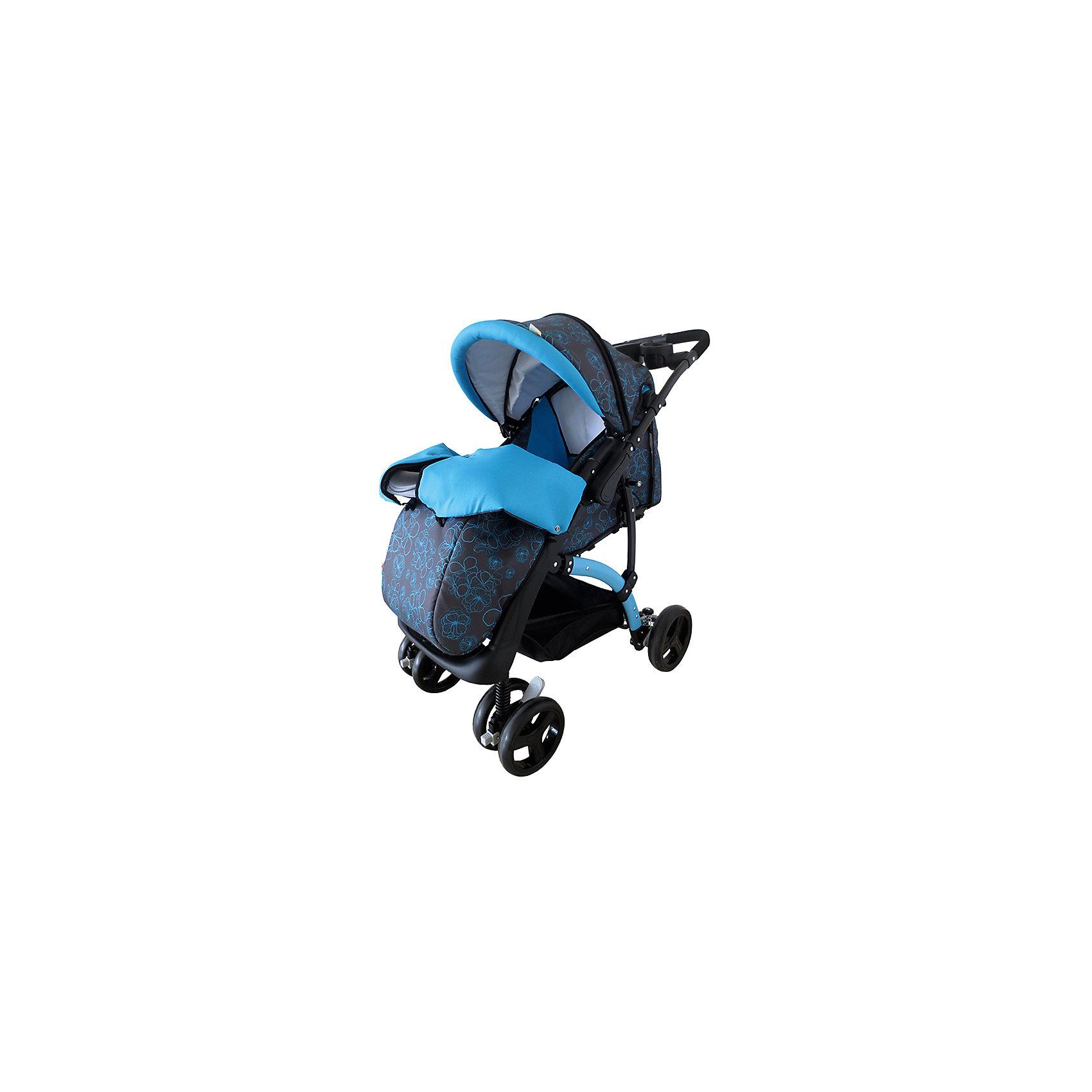 Прогулочная коляска Flora, Baby Hit, голубой