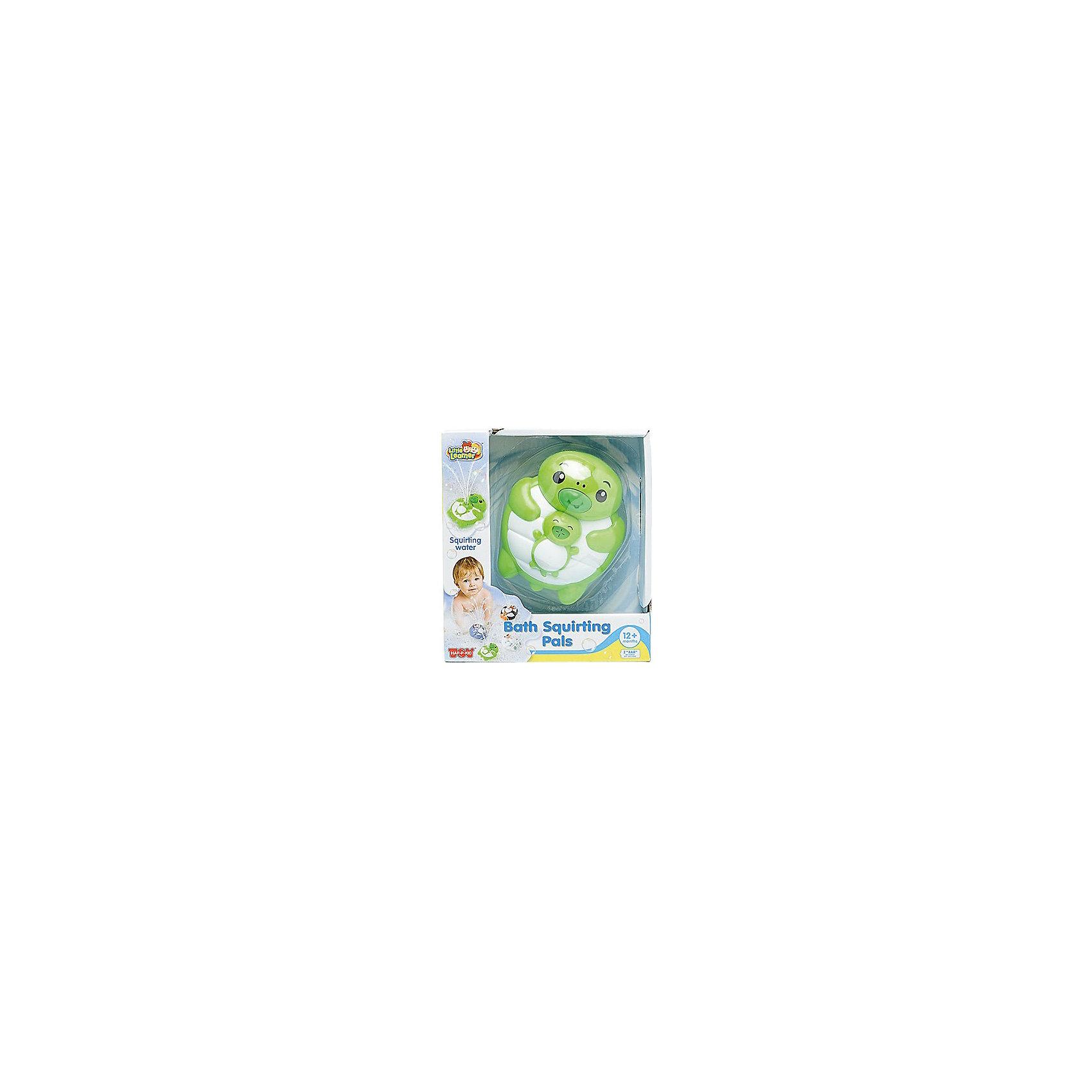 Игрушка для ванной Черепашка, HAP-P-KIDИгрушка для ванной Черепашка, Happy Kid (Хэппи Кид) – эта забавная игрушка развеселит вашего малыша во время купания.<br>Игрушка для ванной Черепашка от Happy Kid (Хэппи Кид) привлечет внимание вашего малыша и превратит купание в веселую игру! Игрушка выполнена в виде черепашки лежащей на спине и держащей детеныша. Она прекрасно держится на воде. Если нажать на нос черепашки, то из ротика детеныша брызнет фонтан воды, что, несомненно, позабавит ребенка. Эта яркая игрушка для ванной поможет вашему малышу развить координацию движений, ловкость, внимание, а также справиться с боязнью воды. Игрушка изготовлена из высококачественных материалов, соответствует требованиям безопасности.<br><br>Дополнительная информация:<br><br>- Материал: винил, резина, пластик<br>- Цвет: зеленый, белый<br>- Батарейки: 2 типа ААА (в комплект не входят)<br>- Размер упаковки: 16,5 x 18,4 x 8,6 см.<br>- Вес: 290 гр.<br><br>Игрушку для ванной Черепашка, Happy Kid (Хэппи Кид) можно купить в нашем интернет-магазине.<br><br>Ширина мм: 165<br>Глубина мм: 184<br>Высота мм: 86<br>Вес г: 290<br>Возраст от месяцев: 12<br>Возраст до месяцев: 36<br>Пол: Унисекс<br>Возраст: Детский<br>SKU: 4726744