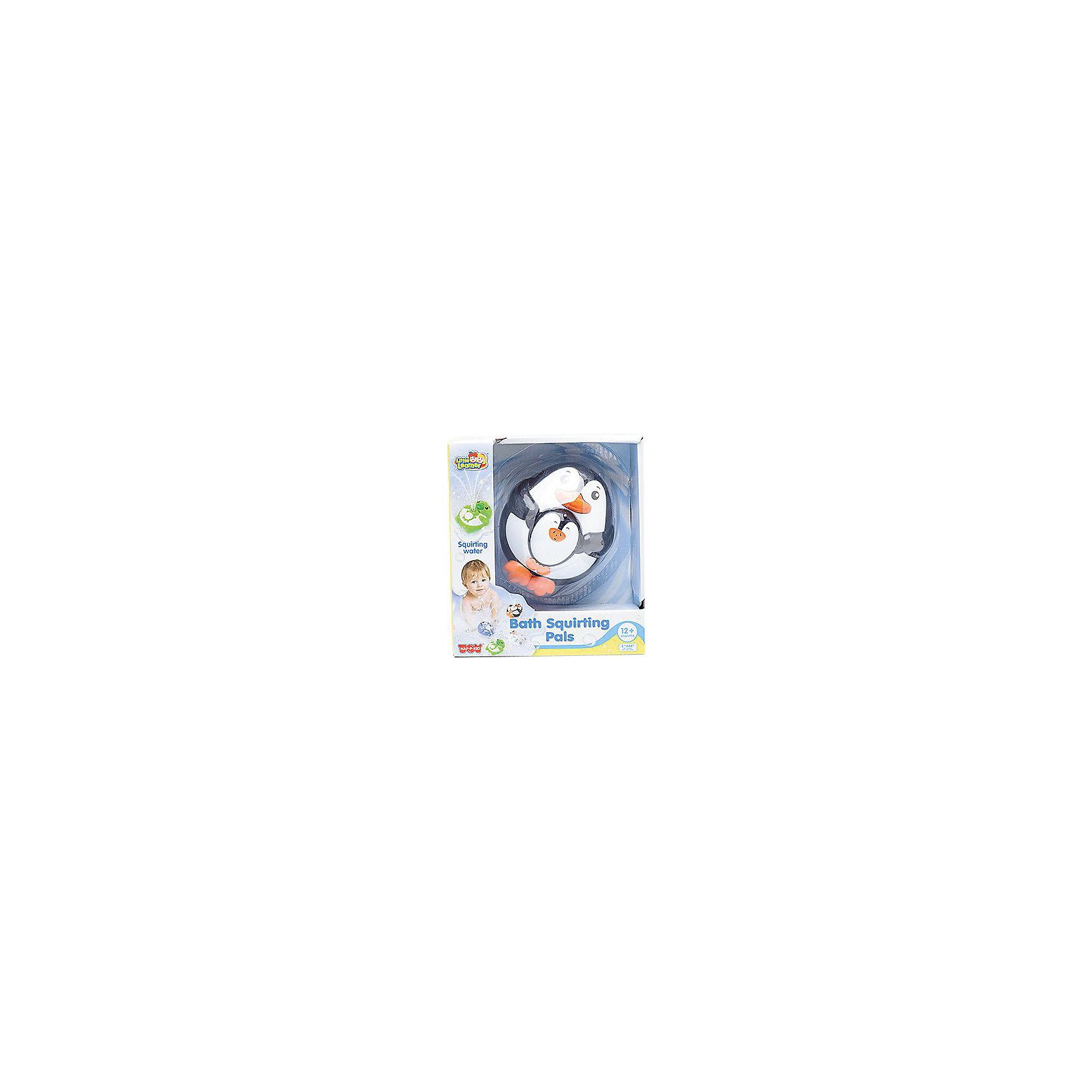 Игрушка для ванной Пингвиненок, HAP-P-KIDИгрушка для ванной Пингвиненок, Happy Kid (Хэппи Кид) – эта забавная игрушка развеселит вашего малыша во время купания.<br>Игрушка для ванной Пингвиненок от Happy Kid (Хэппи Кид) привлечет внимание вашего малыша и превратит купание в веселую игру! Игрушка выполнена в виде пингвина лежащего на спине и держащего детеныша. Она прекрасно держатся на воде, не тонет. Если нажать на нос пингвина, то из ротика детеныша брызнет фонтан воды, что, несомненно, позабавит ребенка. Эта яркая игрушка для ванной поможет вашему малышу развить координацию движений, ловкость, внимание, а также справиться с боязнью воды. Игрушка изготовлена из высококачественных материалов, соответствует требованиям безопасности.<br><br>Дополнительная информация:<br><br>- Размер: 10 х 12 х 6 см.<br>- Материал: винил, резина, пластик<br>- Цвет: черный, белый, оранжевый<br>- Батарейки: 2 типа ААА (в комплект не входят)<br>- Размер упаковки: 16,5 x 18,4 x 8,6 см.<br>- Вес: 290 гр.<br><br>Игрушку для ванной Пингвиненок, Happy Kid (Хэппи Кид) можно купить в нашем интернет-магазине.<br><br>Ширина мм: 165<br>Глубина мм: 184<br>Высота мм: 86<br>Вес г: 290<br>Возраст от месяцев: 12<br>Возраст до месяцев: 36<br>Пол: Унисекс<br>Возраст: Детский<br>SKU: 4726746