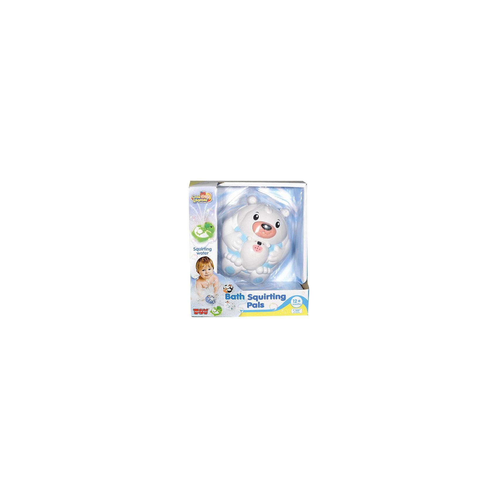 Игрушка для ванной Полярный мишка, HAP-P-KIDИгрушка для ванной Полярный мишка, Happy Kid (Хэппи Кид) – эта забавная игрушка развеселит вашего малыша во время купания.<br>Игрушка для ванной Полярный мишка от Happy Kid (Хэппи Кид) привлечет внимание вашего малыша и превратит купание в веселую игру! Игрушка выполнена в виде белого медведя лежащего на спине и держащего медвежонка. Игрушка прекрасно держатся на воде, не тонет. Если нажать на нос медведя, то из ротика медвежонка брызнет фонтан воды, что, несомненно, позабавит ребенка. Эта яркая игрушка для ванной поможет вашему малышу развить координацию движений, ловкость, внимание, а также справиться с боязнью воды. Игрушка изготовлена из высококачественных материалов, соответствует требованиям безопасности.<br><br>Дополнительная информация:<br><br>- Размер: 11 х 12 х 7 см.<br>- Материал: винил, резина, пластик<br>- Цвет: белый,голубой<br>- Батарейки: 2 типа ААА (в комплект не входят)<br>- Размер упаковки: 16,5 x 18,4 x 8,6 см.<br>- Вес: 290 гр.<br><br>Игрушку для ванной Полярный мишка, Happy Kid (Хэппи Кид) можно купить в нашем интернет-магазине.<br><br>Ширина мм: 165<br>Глубина мм: 184<br>Высота мм: 86<br>Вес г: 290<br>Возраст от месяцев: 12<br>Возраст до месяцев: 36<br>Пол: Унисекс<br>Возраст: Детский<br>SKU: 4726747