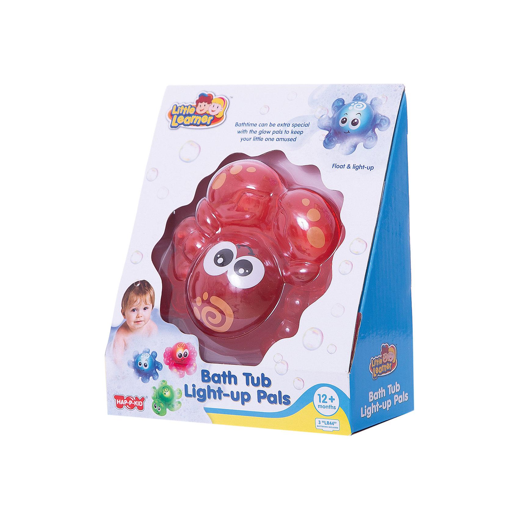 Игрушка для ванной Крабик, со светом, HAP-P-KIDИгрушки ПВХ<br>Игрушка для ванной Крабик, со светом, Happy Kid (Хэппи Кид) – эта забавная игрушка развеселит вашего малыша во время купания.<br>Игрушка для ванной Крабик от Happy Kid (Хэппи Кид) привлечет внимание вашего малыша и превратит купание в веселую игру! Она выполнена в ярко-розовом цвете в виде забавного крабика с большими глазками. Игрушка оснащена специальным датчиком, благодаря которому начинает светиться при контакте с водой, периодически выключаясь. Хорошо держится на воде, не тонет. Игрушка не имеет острых углов и мелких деталей, её форма обтекаемая. Развивает воображение, цветовосприятие, мелкую моторику, а также помогает ребенку справиться с боязнью воды. Продукция изготовлена из прочного, качественного, безопасного материала, сертифицирована, экологически безопасна, использованные красители не токсичны и гипоаллергенны.<br><br>Дополнительная информация:<br><br>- Материал: пластик<br>- Батарейки: 3 типа AG13/LR44 (входят в комплект)<br>- Размер упаковки: 18 x 15 x 7 см.<br>- Вес: 217 гр.<br><br>Игрушку для ванной Крабик, со светом, Happy Kid (Хэппи Кид) можно купить в нашем интернет-магазине.<br><br>Ширина мм: 180<br>Глубина мм: 150<br>Высота мм: 70<br>Вес г: 217<br>Возраст от месяцев: 12<br>Возраст до месяцев: 36<br>Пол: Унисекс<br>Возраст: Детский<br>SKU: 4726750