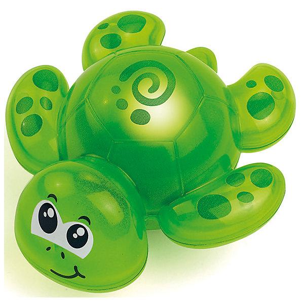 Игрушка для ванной черепашка, со светом, HAP-P-KIDИгрушки для ванной<br>Игрушка для ванной черепашка, со светом, Happy Kid (Хэппи Кид) – эта забавная игрушка развеселит вашего малыша во время купания.<br>Игрушка для ванной Черепашка от Happy Kid (Хэппи Кид) привлечет внимание вашего малыша и превратит купание в веселую игру! Она выполнена в ярко-зеленом цвете в виде забавной черепахи с большими глазками. Игрушка оснащена специальным датчиком, благодаря которому начинает светиться при контакте с водой, периодически выключаясь. Хорошо держится на воде, не тонет. Игрушка не имеет острых углов и мелких деталей, её форма обтекаемая. Развивает воображение, цветовосприятие, мелкую моторику, а также помогает ребенку справиться с боязнью воды. Продукция изготовлена из прочного, качественного, безопасного материала, сертифицирована, экологически безопасна, использованные красители не токсичны и гипоаллергенны.<br><br>Дополнительная информация:<br><br>- Материал: пластик<br>- Батарейки: 3 типа AG13/LR44 (входят в комплект)<br>- Размер упаковки: 18 x 15 x 7 см.<br>- Вес: 217 гр.<br><br>Игрушку для ванной черепашка, со светом, Happy Kid (Хэппи Кид) можно купить в нашем интернет-магазине.<br><br>Ширина мм: 180<br>Глубина мм: 150<br>Высота мм: 70<br>Вес г: 217<br>Возраст от месяцев: 12<br>Возраст до месяцев: 36<br>Пол: Унисекс<br>Возраст: Детский<br>SKU: 4726752