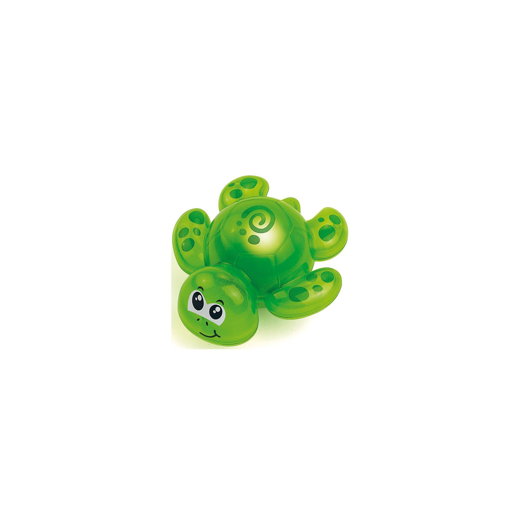 Игрушка для ванной черепашка, со светом, HAP-P-KIDИгрушка для ванной черепашка, со светом, Happy Kid (Хэппи Кид) – эта забавная игрушка развеселит вашего малыша во время купания.<br>Игрушка для ванной Черепашка от Happy Kid (Хэппи Кид) привлечет внимание вашего малыша и превратит купание в веселую игру! Она выполнена в ярко-зеленом цвете в виде забавной черепахи с большими глазками. Игрушка оснащена специальным датчиком, благодаря которому начинает светиться при контакте с водой, периодически выключаясь. Хорошо держится на воде, не тонет. Игрушка не имеет острых углов и мелких деталей, её форма обтекаемая. Развивает воображение, цветовосприятие, мелкую моторику, а также помогает ребенку справиться с боязнью воды. Продукция изготовлена из прочного, качественного, безопасного материала, сертифицирована, экологически безопасна, использованные красители не токсичны и гипоаллергенны.<br><br>Дополнительная информация:<br><br>- Материал: пластик<br>- Батарейки: 3 типа AG13/LR44 (входят в комплект)<br>- Размер упаковки: 18 x 15 x 7 см.<br>- Вес: 217 гр.<br><br>Игрушку для ванной черепашка, со светом, Happy Kid (Хэппи Кид) можно купить в нашем интернет-магазине.<br><br>Ширина мм: 180<br>Глубина мм: 150<br>Высота мм: 70<br>Вес г: 217<br>Возраст от месяцев: 12<br>Возраст до месяцев: 36<br>Пол: Унисекс<br>Возраст: Детский<br>SKU: 4726752