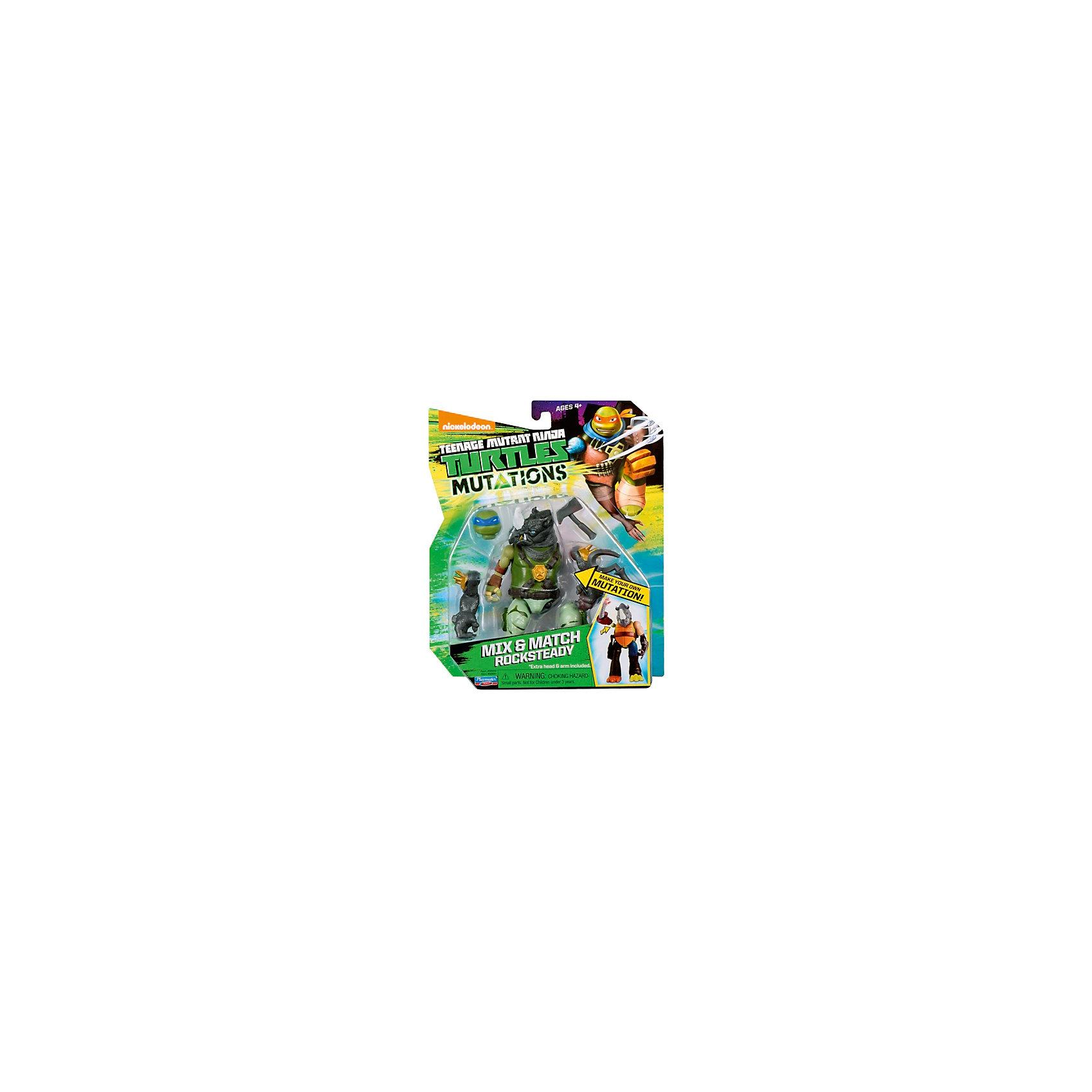 - Фигурка Рокстеди, 12 см, Черепашки Ниндзя трицикл с фигуркой черепашки ниндзя