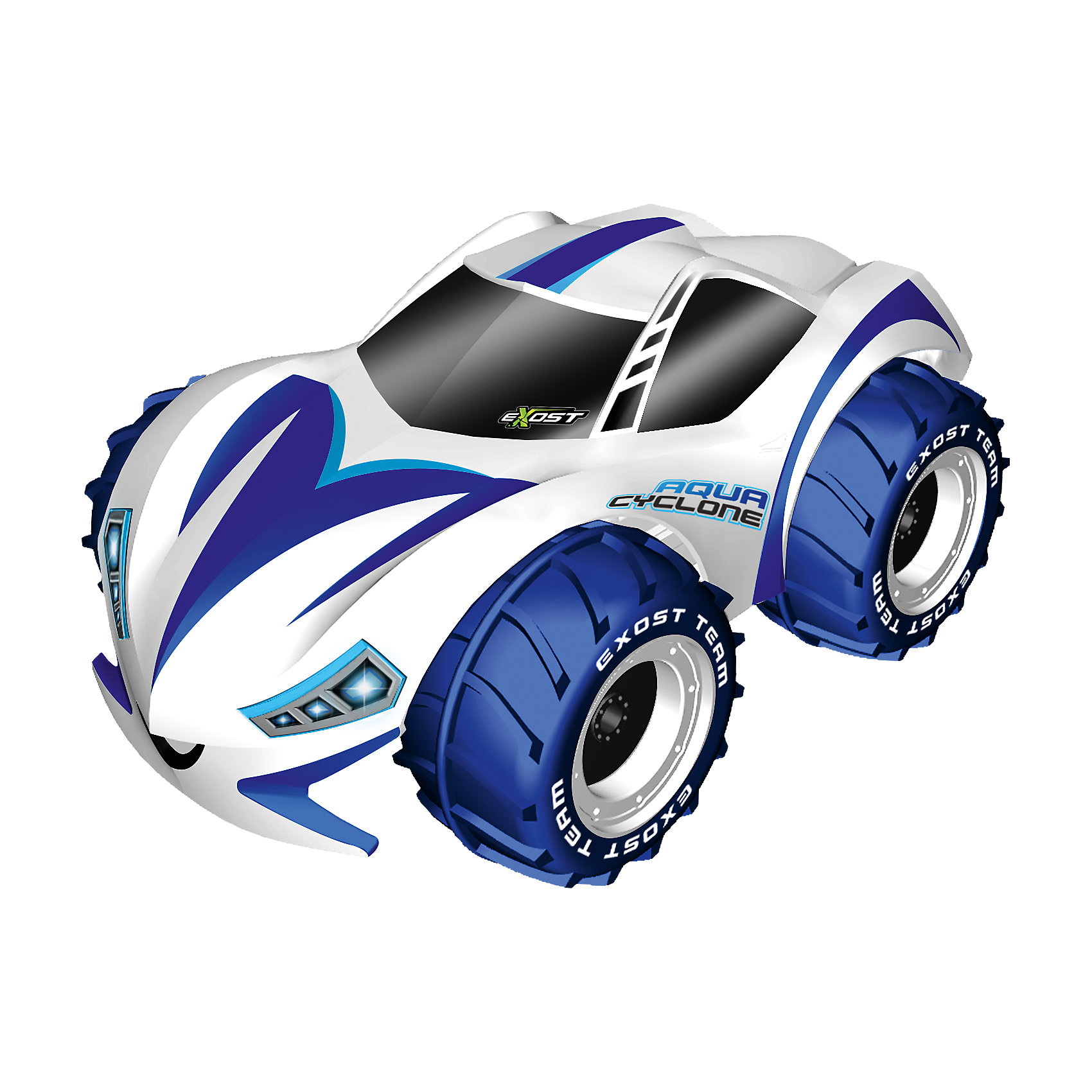 """Машина р/у Аква Циклон, 1:10, SilverlitР/У Машины и мотоциклы<br>Машина р/у Аква Циклон, 1:10, Silverlit.<br><br>Характеристики:<br><br>- Комплектация: машина, зарядное устройство, пульт радиоуправления<br>- Время игры: до 30 мин.<br>- Время зарядки: 120 мин.<br>- Материал: пластик, металл, резина<br>- Длина машинки: 30 см.<br>- Батарейка: 1 x 9V типа """"Крона"""" (входит в комплект)<br>- Дальность действия пульта радиоуправления: 30 м.<br>- Максимальная скорость: 12 км/ч.<br>- Упаковка: картонная коробка блистерного типа<br>- Размер упаковки: 37,6 x 21 x 26,5 см.<br><br>Машина на радиоуправлении Аква Циклон — вездеход, покоривший воду и землю. Его большие колёса, наполненные воздухом, не дают корпусу тонуть. Выступающий рисунок протектора совершает загребающие движения, когда машинка едет по воде. Удивительно, но даже в таких условиях автомобиль может поворачивать влево и вправо. На суше машина-амфибия покоряет глинистые, гравийные, асфальтированные и даже заснеженные трассы. Радиоуправляемая машина работает на частоте 2.4 ГГц. Благодаря специальной технологии одновременно до 10 игроков могут управлять игрушечными автомобилями Аква Циклон. Продукция сертифицирована, экологически безопасна для ребенка, использованные красители не токсичны и гипоаллергенны.<br><br>Машину р/у Аква Циклон, 1:10, Silverlit можно купить в нашем интернет-магазине.<br><br>Ширина мм: 383<br>Глубина мм: 276<br>Высота мм: 241<br>Вес г: 1899<br>Возраст от месяцев: 60<br>Возраст до месяцев: 108<br>Пол: Мужской<br>Возраст: Детский<br>SKU: 4727721"""