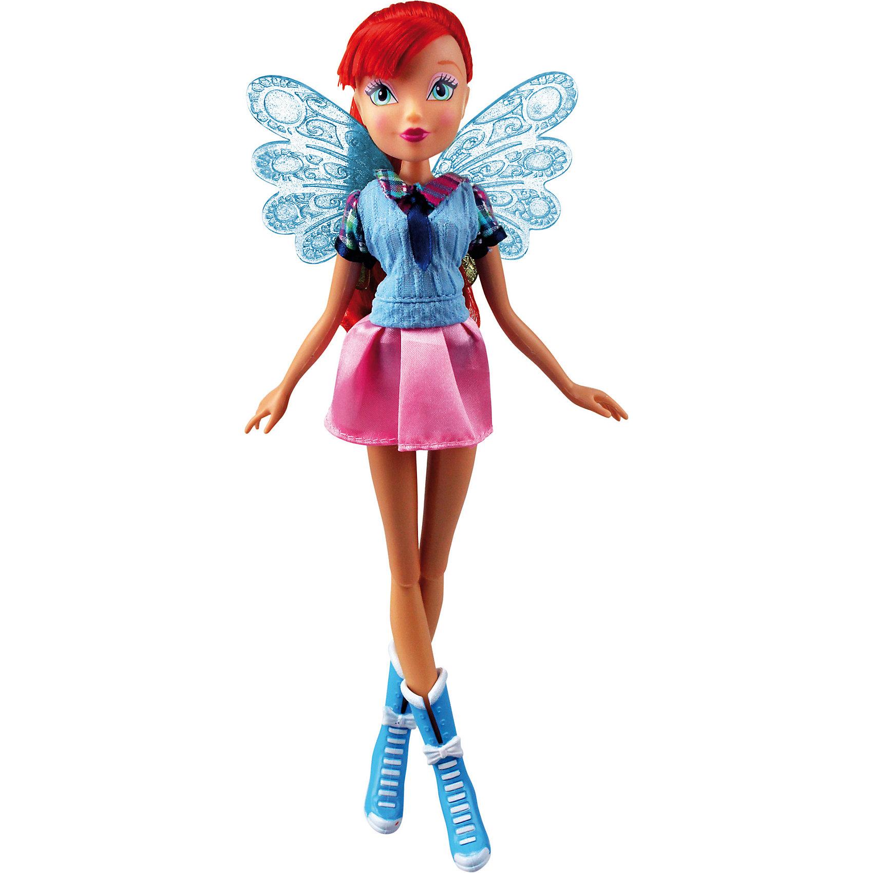 Кукла Winx Club Алфея БлумКукла Winx Club Алфея Блум – красавица в стильной школьной форме идеальный подарок для преданных поклонниц фей.<br>Очередной учебный год в магической школе «Алфея» начался! Вся компания девочек-фей из «Винкс Клуб» любит уникальные наряды и знает толк в моде. Коллекция кукол-волшебниц  из 7 сезона мультсериала «Винкс Клуб» уже в продаже! Эксклюзивная школьная форма, роскошные волосы, съемные подвижные крылышки и шарнирный механизм кукол обрадуют всех поклонниц «Винкс Клуб». С каждой куклой серии «Алфея» в подарок вы получаете оригинальный браслет со съемными декоративными элементами. В коллекции «Алфея» у куклы Блум модный голубой жилет, клетчатая рубашка, темно-синий галстук, нежно-розовая мини-юбка и стильные голубые ботильоны. Выразительные черты лица красавицы подчеркнуты ярким макияжем, а ее шикарные рыжие локоны спадают мягкими волнами ниже плеч. Чудесные прозрачные ажурные крылышки феи порхают как настоящие и ярко мерцают на свету! Юная волшебница полностью готова к изучению заклинаний и получению силы Баттерфликс. Одежда и аксессуары куклы Winx Club «Алфея» Блум полностью повторяют стиль одноименной героини сериала Winx Club (7 сезон). Продукция сертифицирована, экологически безопасна для детей, использованные красители не токсичны и гипоаллергенны.<br><br>Дополнительная информация:<br><br>- В комплекте: кукла, съемные крылья, брендированный браслет для девочки со съемными элементами (бабочка и цветочек)<br>- Высота куклы: 27 см.<br>- Материал: пластик, текстиль<br>- Руки и ноги куклы закреплены на шарнирных соединениях, поэтому их можно сгибать и двигать, придавая игрушке различные эффектные позы<br><br>Куклу Winx Club Алфея Блум можно купить в нашем интернет-магазине.<br><br>Ширина мм: 200<br>Глубина мм: 60<br>Высота мм: 340<br>Вес г: 343<br>Возраст от месяцев: 36<br>Возраст до месяцев: 84<br>Пол: Женский<br>Возраст: Детский<br>SKU: 4728347