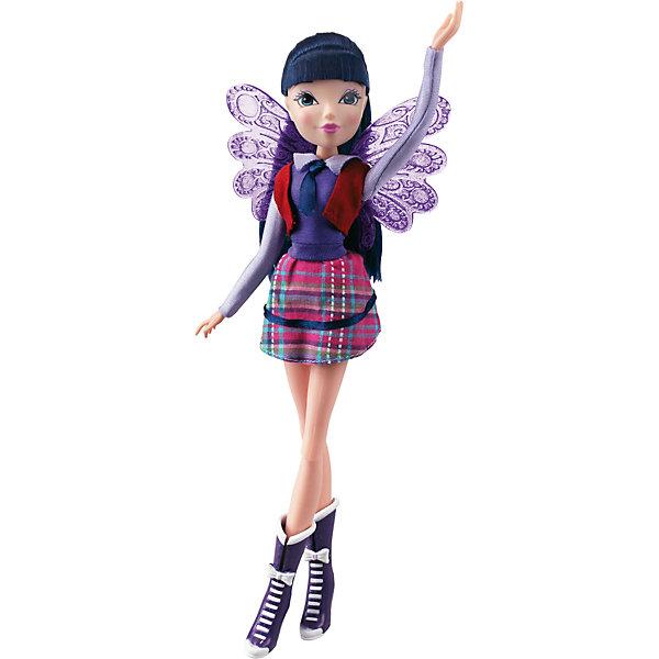 Кукла Winx Club Алфея МузаБренды кукол<br>Кукла Winx Club Алфея Муза – красавица в стильной школьной форме идеальный подарок для преданных поклонниц фей.<br>Очередной учебный год в магической школе «Алфея» начался! Вся компания девочек-фей из «Винкс Клуб» любит уникальные наряды и знает толк в моде. Коллекция кукол-волшебниц  из 7 сезона мультсериала «Винкс Клуб» уже в продаже! Эксклюзивная школьная форма, роскошные волосы, съемные подвижные крылышки и шарнирный механизм кукол обрадуют всех поклонниц «Винкс Клуб». С каждой куклой серии «Алфея» в подарок вы получаете оригинальный браслет со съемными декоративными элементами. В коллекции «Алфея» у куклы Муза красный жилет, модная блузка, темно-синий галстук, клетчатая мини-юбка и стильные фиолетовые ботильоны. Выразительные черты лица красавицы подчеркнуты ярким макияжем, а ее шикарные локоны с синими прядями спадают мягкими волнами ниже плеч. Чудесные прозрачные ажурные крылышки феи порхают как настоящие и ярко мерцают на свету! Юная волшебница полностью готова к изучению заклинаний и получению силы Баттерфликс. Одежда и аксессуары куклы Winx Club «Алфея» Муза полностью повторяют стиль одноименной героини сериала Winx Club (7 сезон). Продукция сертифицирована, экологически безопасна для детей, использованные красители не токсичны и гипоаллергенны.<br><br>Дополнительная информация:<br><br>- В комплекте: кукла, съемные крылья, брендированный браслет для девочки со съемными элементами (бабочка и цветочек)<br>- Высота куклы: 27 см.<br>- Материал: пластик, текстиль<br>- Руки и ноги куклы закреплены на шарнирных соединениях, поэтому их можно сгибать и двигать, придавая игрушке различные эффектные позы<br><br>Куклу Winx Club Алфея Муза можно купить в нашем интернет-магазине.<br>Ширина мм: 200; Глубина мм: 60; Высота мм: 340; Вес г: 343; Возраст от месяцев: 36; Возраст до месяцев: 84; Пол: Женский; Возраст: Детский; SKU: 4728349;