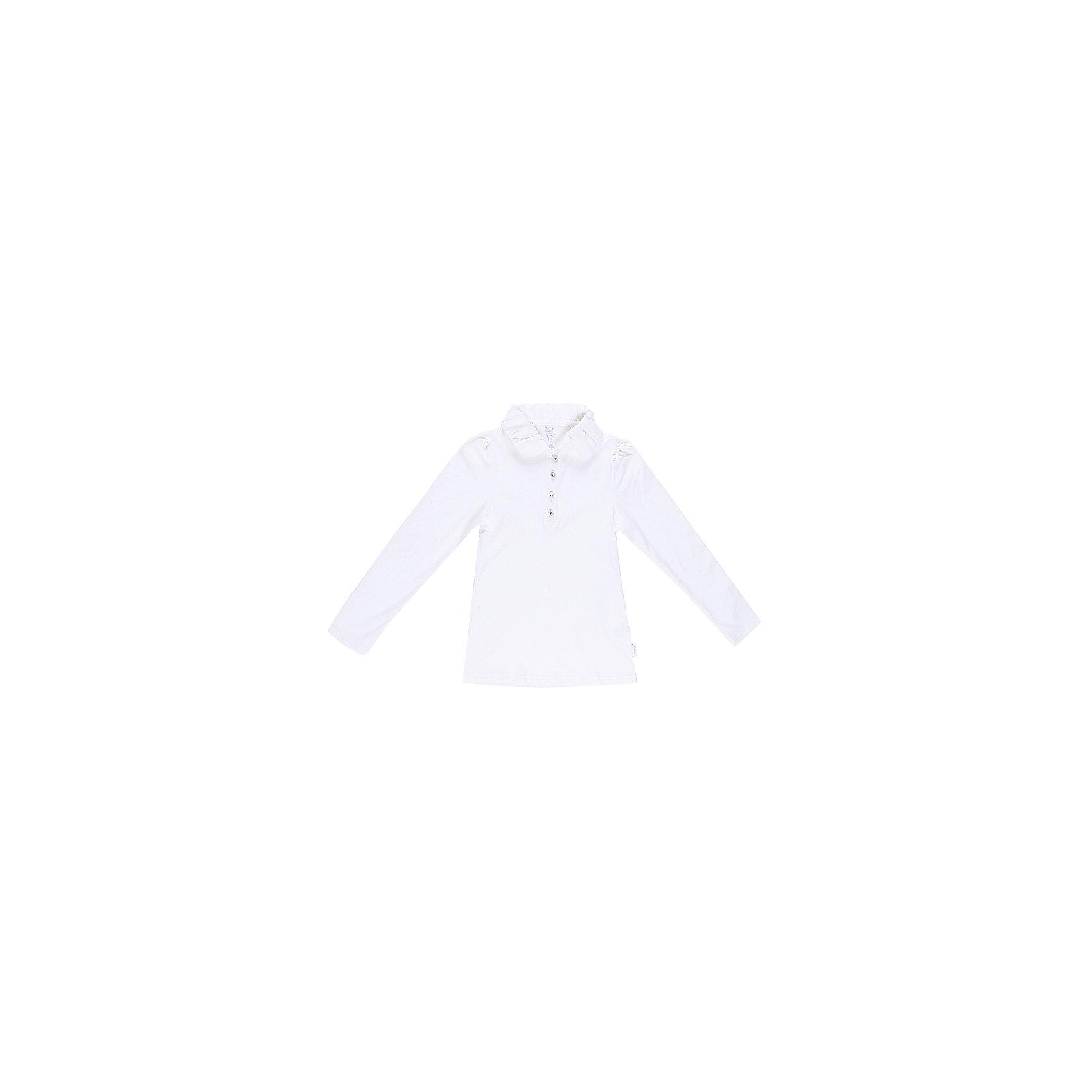 Блуза для девочки LuminosoБлузки и рубашки<br>Блуза для девочки от известного бренда Luminoso<br>Блуза для девочек из  качественного натурального трикотажа  нежных оттенков. Воротничок выполнен из шифона.<br>Состав:<br>95% хлопок, 5% эластан<br><br>Ширина мм: 186<br>Глубина мм: 87<br>Высота мм: 198<br>Вес г: 197<br>Цвет: молочный<br>Возраст от месяцев: 144<br>Возраст до месяцев: 156<br>Пол: Женский<br>Возраст: Детский<br>Размер: 158,128,134,140,146,152,164<br>SKU: 4728869