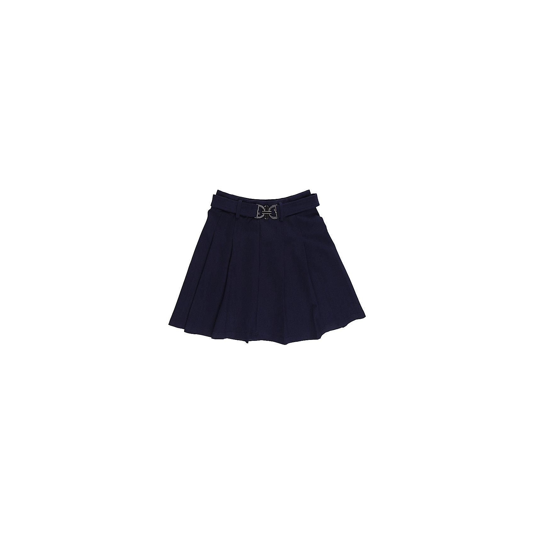 Юбка для девочки LuminosoЮбка для девочки от известного бренда Luminoso<br>Трикотажная юбка со складками и  поясом с декоративной бляшкой. В юбке предусмотрена внутренняя резинка на поясе, что делает модель удобной и комфортн<br>Состав:<br>65% хлопок, 30% полиэстер,  5% эластан<br><br>Ширина мм: 207<br>Глубина мм: 10<br>Высота мм: 189<br>Вес г: 183<br>Цвет: синий<br>Возраст от месяцев: 132<br>Возраст до месяцев: 144<br>Пол: Женский<br>Возраст: Детский<br>Размер: 152,134,128,164,158,146,140<br>SKU: 4728957