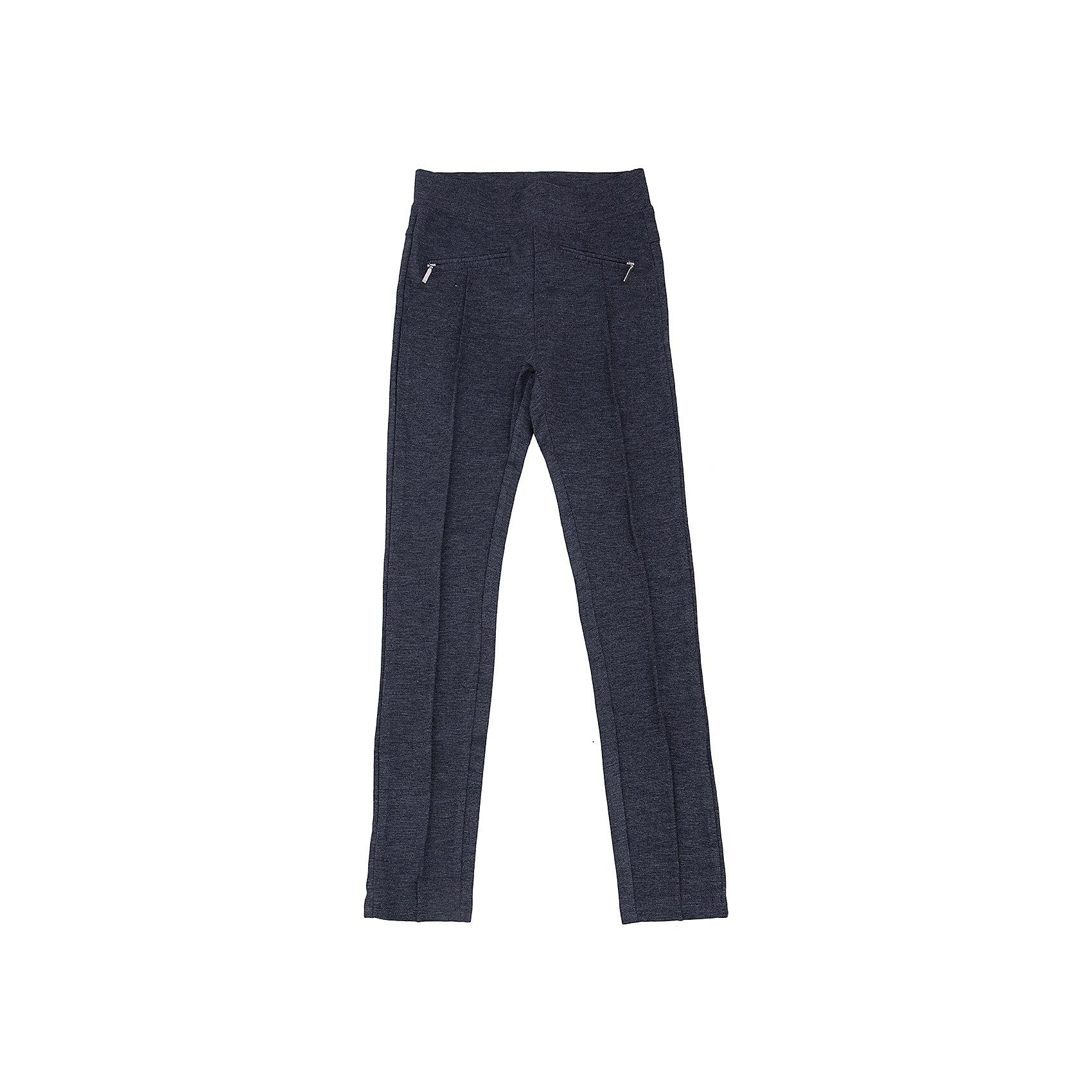 Брюки для девочки LuminosoБрюки для девочки от известного бренда Luminoso<br>Стильные брюки прямого покроя с декоративными рельефными  стрелками и молниям. Модель выполнена из эластичного трикотажа высокого качества, в пояс вст<br>Состав:<br>65% хлопок, 30% полиэстер,  5% эластан<br><br>Ширина мм: 215<br>Глубина мм: 88<br>Высота мм: 191<br>Вес г: 336<br>Цвет: серый<br>Возраст от месяцев: 84<br>Возраст до месяцев: 96<br>Пол: Женский<br>Возраст: Детский<br>Размер: 128,134,140,146,152,158,164<br>SKU: 4728965