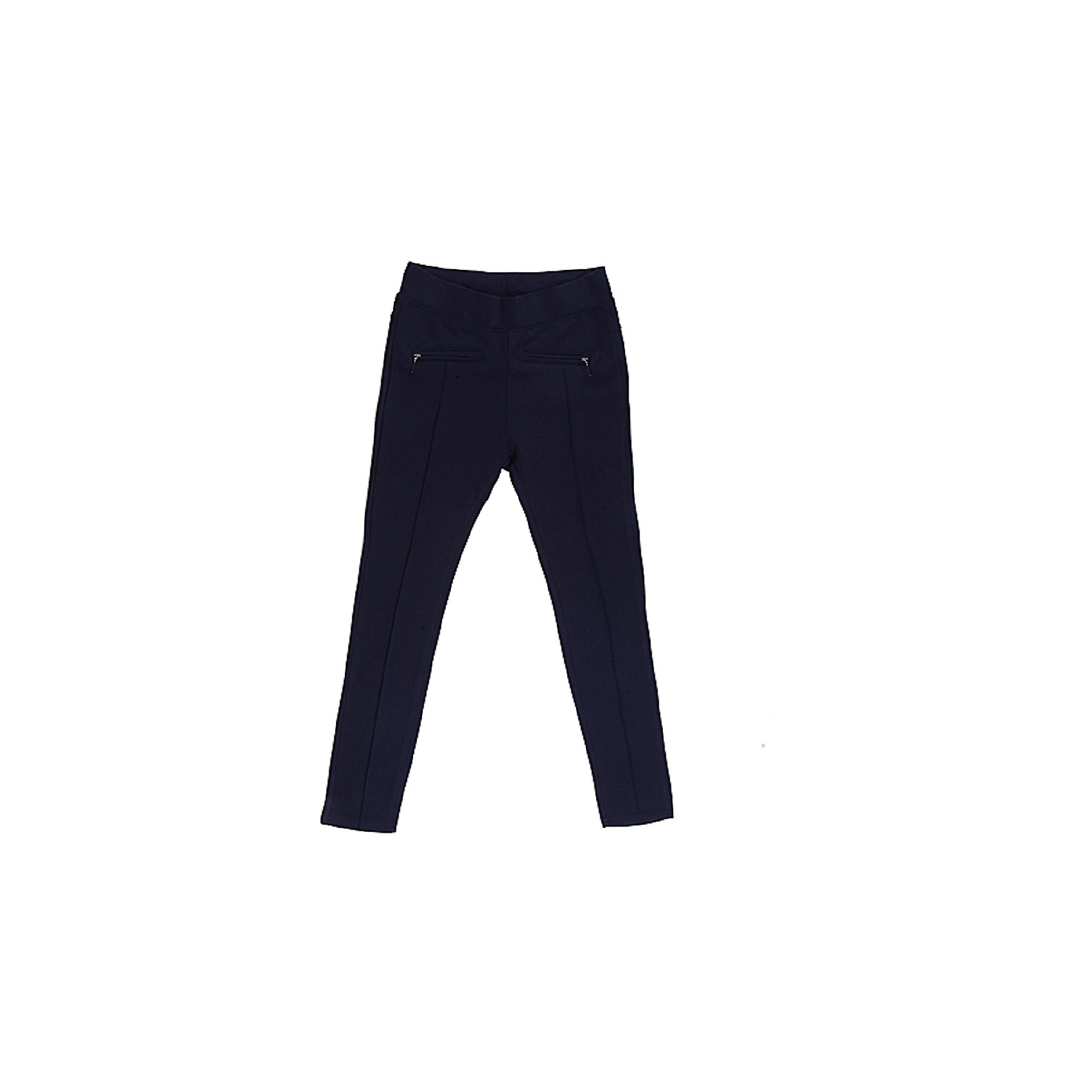 Брюки для девочки LuminosoБрюки для девочки от известного бренда Luminoso<br>Стильные брюки прямого покроя с декоративными рельефными  стрелками и молниям. Модель выполнена из эластичного трикотажа высокого качества, в пояс вст<br>Состав:<br>65% хлопок, 30% полиэстер,  5% эластан<br><br>Ширина мм: 215<br>Глубина мм: 88<br>Высота мм: 191<br>Вес г: 336<br>Цвет: синий<br>Возраст от месяцев: 84<br>Возраст до месяцев: 96<br>Пол: Женский<br>Возраст: Детский<br>Размер: 128,134,140,146,152,158,164<br>SKU: 4728973