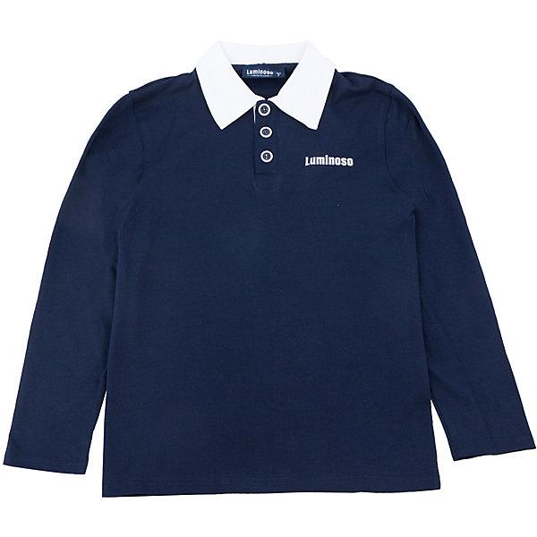 Футболка-поло с длинным рукавом для мальчика LuminosoБлузки и рубашки<br>Футболка-поло с длинным рукавом для мальчика от известного бренда Luminoso.<br>Футболка-поло с длинным рукавом для мальчика выполнена из качественного натурального трикотажа, что обеспечивает комфортность и простоту.<br>Состав:<br>95% хлопок, 5% эластан<br><br>Ширина мм: 190<br>Глубина мм: 74<br>Высота мм: 229<br>Вес г: 236<br>Цвет: синий/белый<br>Возраст от месяцев: 144<br>Возраст до месяцев: 156<br>Пол: Мужской<br>Возраст: Детский<br>Размер: 158,134,128,164,152,146,140<br>SKU: 4729053