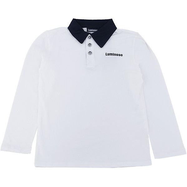 Футболка-поло с длинным рукавом для мальчика LuminosoБлузки и рубашки<br>Футболка-поло с длинным рукавом для мальчика от известного бренда Luminoso.<br>Футболка-поло с длинным рукавом для мальчика выполнена из качественного натурального трикотажа, что обеспечивает комфортность и простоту.<br>Состав:<br>95% хлопок, 5% эластан<br>Ширина мм: 190; Глубина мм: 74; Высота мм: 229; Вес г: 236; Цвет: синий/белый; Возраст от месяцев: 144; Возраст до месяцев: 156; Пол: Мужской; Возраст: Детский; Размер: 158,134,128,164,152,146,140; SKU: 4729069;
