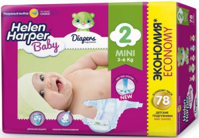 Подгузники Mini Helen Harper Baby 3-6 кг., 78 шт.
