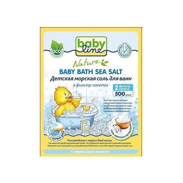 Детская морская соль для ванн, Babyline, 500 гр.Травы и соли для купания<br>Детская морская соль Babyline обогащает воду минералами, необходимыми для здоровья ребенка. Солевые ванночки снимают раздражение и зуд с нежной детской кожи, способствуют повышению иммунитета и общему укреплению организма, оказывают успокаивающее действие и прекрасно подготавливают ребенка ко сну.<br><br>Ширина мм: 35<br>Глубина мм: 105<br>Высота мм: 135<br>Вес г: 520<br>Возраст от месяцев: 0<br>Возраст до месяцев: 36<br>Пол: Унисекс<br>Возраст: Детский<br>SKU: 4729785