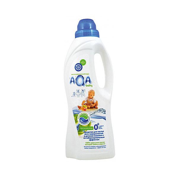 Средство для мытья всех поверхностей в детской комнате с антибактериальным эффектом, AQA babyДетская бытовая химия<br>Эффективно удаляет пищевые загрязнения с детской посуды, сосок, бутылочек. Полностью безопасно для младенцев с первых дней жизни: специальная комбинация из нескольких мягких ПАВов эффективно удаляет пищевые загрязнения с детской посуды, сосок и т.д.<br>При этом средство быстро и легко смывается водой, не оседая на посуде<br>Подходит для мытья овощей и фруктов<br>Не раздражает и не сушит кожу рук<br>Не содержит «плохих» консервантов <br>(формальдегидов и т.д.), фосфатов и красителей<br>Не вызывает аллергии<br>Экономично в использовании<br>С удобным дозатором<br>Объем: 500 мл<br><br>Ширина мм: 267<br>Глубина мм: 500<br>Высота мм: 72<br>Вес г: 240<br>Возраст от месяцев: 0<br>Возраст до месяцев: 36<br>Пол: Унисекс<br>Возраст: Детский<br>SKU: 4729821