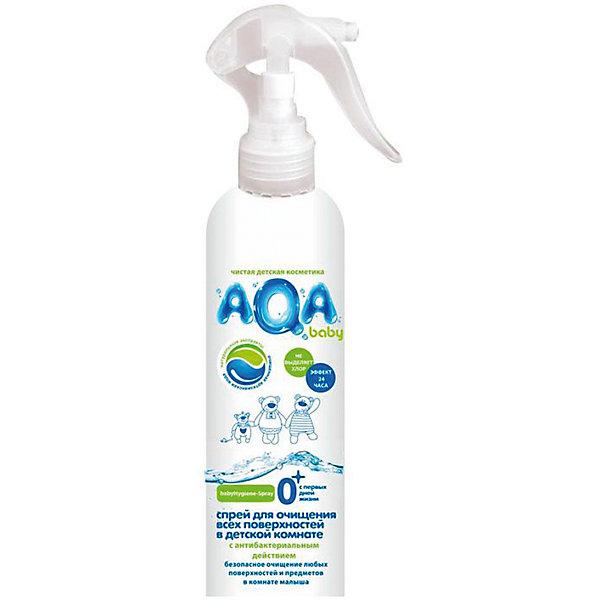 Антибактериальный спрей для очищения всех поверхностей в детской комнате, AQA babyБытовая химия<br>Очищает и обеззараживает: любые поверхности, предметы, в том числе детские игрушки, горшки и т.д.<br>Эффект 24 часа*: <br>Бактерицидный: ликвидирует вредные бактерии <br>Антибактериальный: блокирует рост и размножение микроорганизмов<br>Устраняет неприятные запахи, разрушая их, а не маскируя<br>Без хлора, красителей и оптических осветлителей<br>Не требует смывания водой<br>Безопасно для малыша, мамы и окружающей среды – не остается на поверхностях<br>На основе возобновляемого природного сырья<br>С ароматом свежести<br>* Доказано: Тест в соответствии со стандартом США AATCC 100-1998<br>Ширина мм: 232; Глубина мм: 500; Высота мм: 51; Вес г: 460; Возраст от месяцев: 0; Возраст до месяцев: 36; Пол: Унисекс; Возраст: Детский; SKU: 4729822;