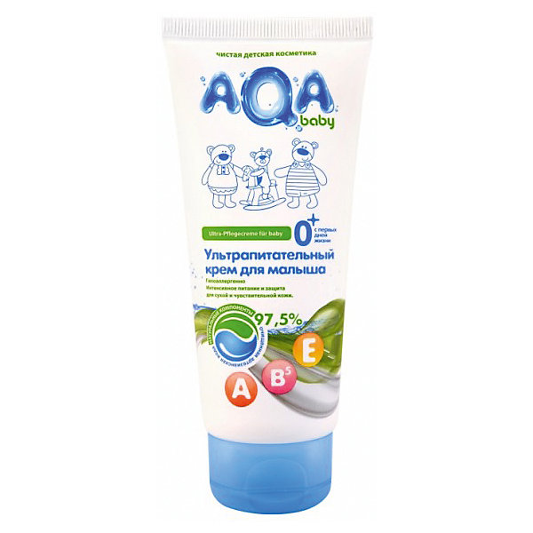 Ультрапитательный крем для малыша, AQA babyКосметика для малыша<br>БЕЗ: парабенов, феноксиэтанола, минерального масла, силиконов, галогенопроизводных компонентов. 97,5% компонентов имеют сертификаты ECOCERT или COSMOS<br>Мягкая формула крема создана для интенсивного питания, увлажнения и защиты сухой, раздраженной и чувствительной кожи<br>Содержит натуральные масла подсолнечника, витамины А Е В5 и пантенол<br>Не нарушает кожного дыхания<br>БЕЗ: парабенов, феноксиэтанола, минерального масла, силиконов, галогенопроизводных компонентов<br>Гипоаллергенно<br>Объём: 100 мл<br><br>Ширина мм: 143<br>Глубина мм: 500<br>Высота мм: 60<br>Вес г: 70<br>Возраст от месяцев: 0<br>Возраст до месяцев: 36<br>Пол: Унисекс<br>Возраст: Детский<br>SKU: 4729824