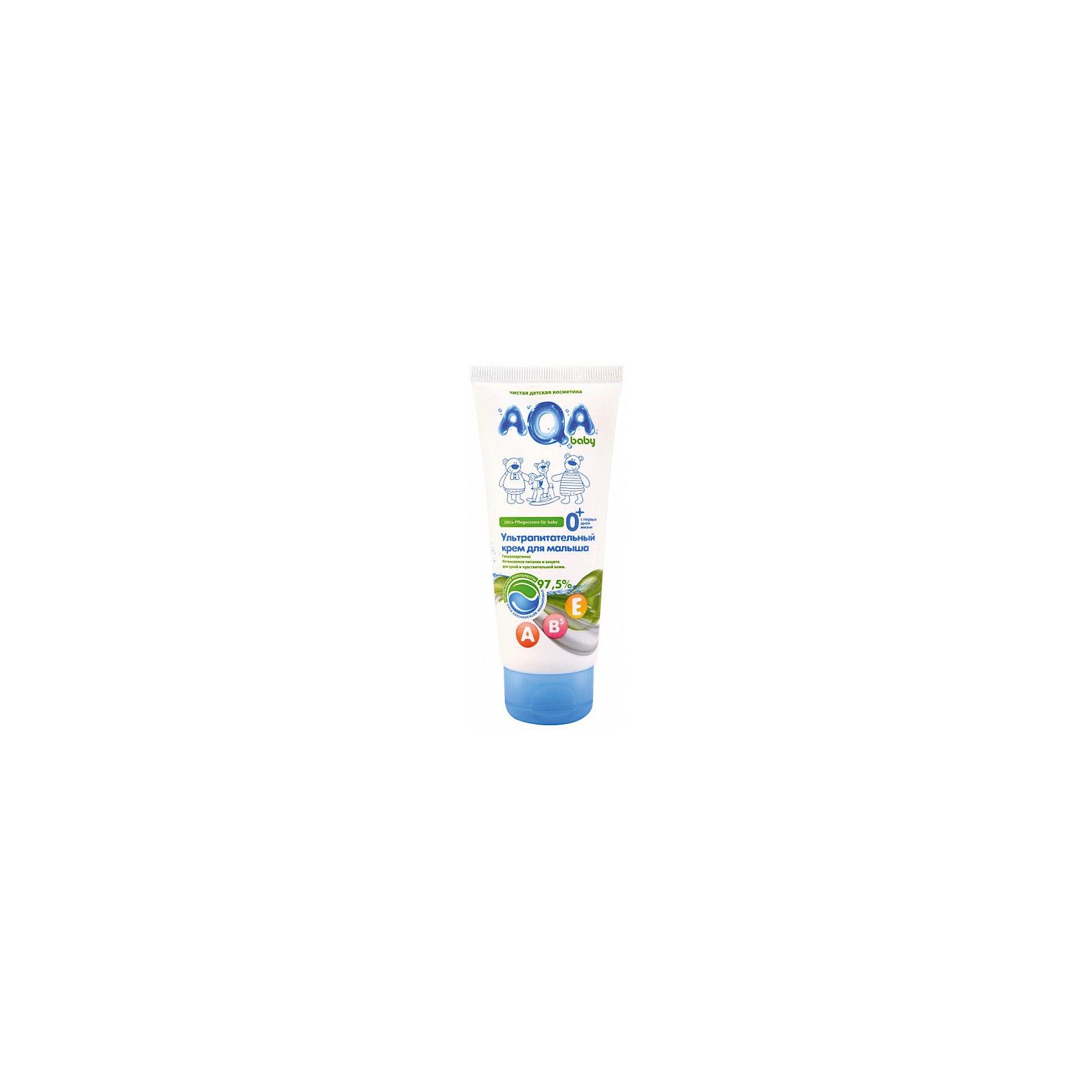 Ультрапитательный крем для малыша, AQA babyКосметика для младнецев<br>БЕЗ: парабенов, феноксиэтанола, минерального масла, силиконов, галогенопроизводных компонентов. 97,5% компонентов имеют сертификаты ECOCERT или COSMOS<br>Мягкая формула крема создана для интенсивного питания, увлажнения и защиты сухой, раздраженной и чувствительной кожи<br>Содержит натуральные масла подсолнечника, витамины А Е В5 и пантенол<br>Не нарушает кожного дыхания<br>БЕЗ: парабенов, феноксиэтанола, минерального масла, силиконов, галогенопроизводных компонентов<br>Гипоаллергенно<br>Объём: 100 мл<br><br>Ширина мм: 143<br>Глубина мм: 500<br>Высота мм: 60<br>Вес г: 70<br>Возраст от месяцев: 0<br>Возраст до месяцев: 36<br>Пол: Унисекс<br>Возраст: Детский<br>SKU: 4729824