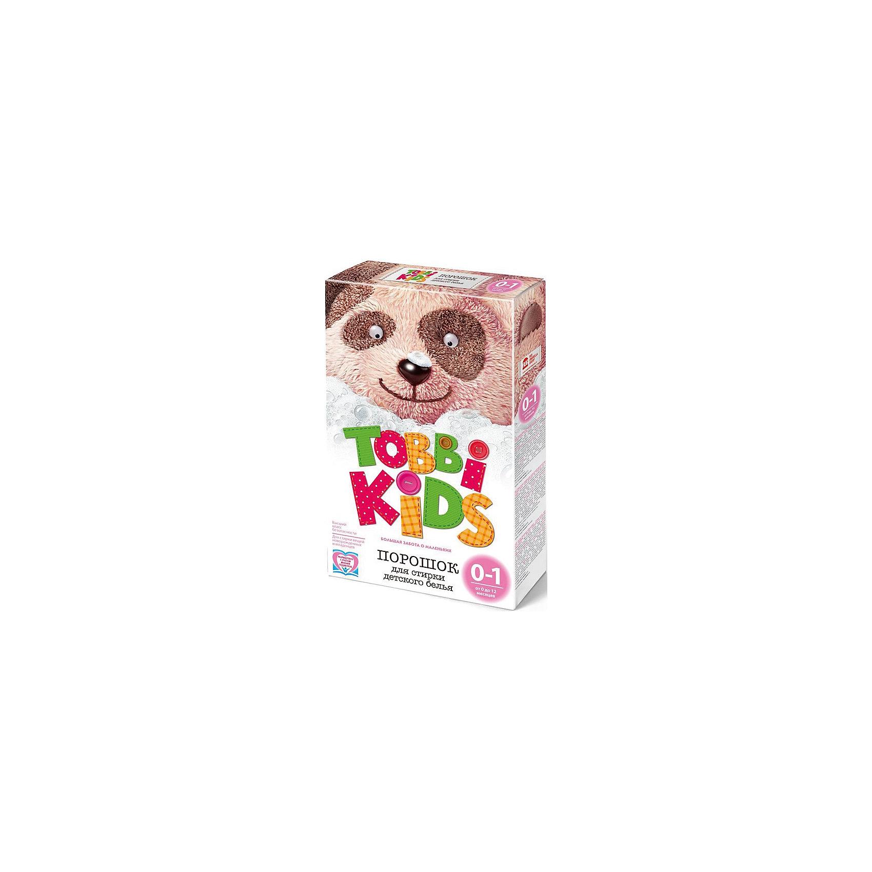 Стиральный порошок 0-12 мес., Tobbi Kids, 400гр.Бренд   Tobbi   Kids   –   серия   инновационных   стиральных порошков для стирки детских вещей – не имеет аналогов на рынке.<br>Уникальный     дифференцированный     подход: продукт разработан с учетом особенностей развития кожи детей и характера загрязнений вещей в разном возрасте.<br>Состав учитывает уровень pH кожи ребенка (в разном возрасте этот показатель меняется и становится таким, как у взрослого человека, к 7 годам).<br>Продукт разработан ведущими научными сотрудниками РАН под контролем врачей педиатров.  Протестирован независимой лабораторией России «Бытхим-2».<br>Основа – натуральное мыло.<br>100% биоразлагаем. Гипоаллергенен.<br><br>Бренд представлен порошками для детей в возрасте от 0 до 12 месяцев, от 1 до 3 лет и от 3 до 7 лет.<br>Tobbi Kids от 0 до 1 года разработан специально для новорожденных с учетом pH уровня кожи младенцев, не содержит агрессивных элементов, отдушек и энзимов, способных вызвать аллергические реакции. Основа порошка – натуральное мыло. Бесфосфатный, гипоаллергенный, биоразлагаемый.<br><br>Ширина мм: 600<br>Глубина мм: 500<br>Высота мм: 500<br>Вес г: 400<br>Возраст от месяцев: 0<br>Возраст до месяцев: 12<br>Пол: Унисекс<br>Возраст: Детский<br>SKU: 4729856