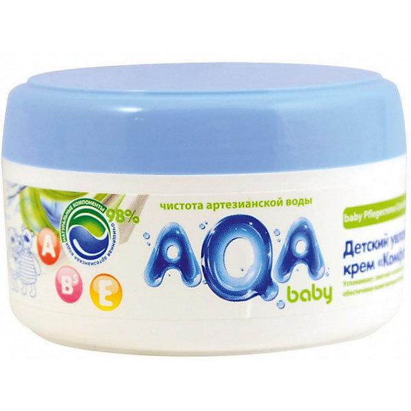 Детский увлажняющий крем Комфорт, AQA baby, 100 мл.Косметика для малыша<br>AQA baby Детский увлажняющий крем Комфор крем идеален для ежедневного мягкого ухода за кожей крохи. Благодаря комбинации натурального масла подсолнечника с витаминами А, Е и В5 крем успокаивает, смягчает и снимает раздражение кожи. <br><br>Формула крема разработана на основе чистой артезианской воды и на 98% состоит из натуральных компонентов. Применение крема доставляет истинное наслаждение и комфортное ощущение нежной коже, средство легко наносится и полностью впитывается, не оставляя жирной пленки.<br><br>Особенности:<br>Подходит с первых дней жизни.<br>Содержит 98% натуральных компонентов.<br>Комбинация масла подсолнечника с витаминами А, Е и В5.<br>Глубоко увлажняет кожу, питает и поддерживает защитную функцию кожи.<br>Гипоаллергенный состав, не содержится силиконов, парабенов, феноксиэтанола, хлоризотиазолинона, галогенопроизводных компонентов и продуктов нефтепереработки.<br>Клинически протестирован дерматологами.<br><br>Способ применения: нанести тонким слоем на чистую сухую кожу малыша. Нежными массажными движениями равномерно распределить крем по телу и дать впитаться.<br><br>Состав:Aqua, Helianthus Annuus (Sunflower) Seed Oil, Caprylic/Capric Triglyceride, Hexyldecanol (and) Hexyldecyl Laurate, Glycerin, Cetearyl Alcohol, Glyceryl Stearate, Oleyl Erucate, Propylene glycol (and) Decylene glycol (and) Methylisothiazolinone, Disodium Cetearyl Sulfosuccinate, Sodium Polyacrylate, D-Pantenol, Retinyl Palmitate, Tocopheryl Acetate, PEG-40 Hydrogenated Castor Oil, BHT, Citric Acid, Propylene Glycol, Disodium EDTA, Parfum.<br>Ширина мм: 143; Глубина мм: 500; Высота мм: 60; Вес г: 100; Возраст от месяцев: -2147483648; Возраст до месяцев: 2147483647; Пол: Унисекс; Возраст: Детский; SKU: 4729902;