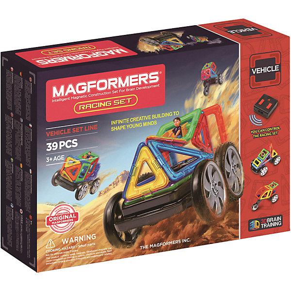 Магнитный конструктор Racing set, MAGFORMERSМагнитные конструкторы<br>Данный магнитный конструктор станет приятным сюрпризом для любого ребенка, так как содержит в комплекте пульт дистанционного управления!<br>Так же в наборе представлено множество оригинальных элементов, среди которых можно найти суперарку, суперсектор и суперпрямоугольник. Наличие дистанционного управления оживит собранные конструкции и не позволит ребёнку заскучать. <br>Кроме этого, конструктор содержит несколько видов колёс, в том числе и уникальное мотоциклетное колесо. Эту редкую деталь можно было найти только в наборе Mega Brain Set. <br><br>Такой конструктор станет прекрасным подарком для начала знакомства с серией Магформерс, а также может отлично дополнить коллекцию уже имеющихся наборов!<br><br>Дополнительная информация:<br><br>- Количество деталей: 39 шт. <br>- Треугольник: 5 шт. <br>- Равнобедренный треугольник: 5 шт. <br>- Квадрат: 6 шт. <br>- Прямоугольник: 1 шт. <br>- Суперпрямоугольник: 1 шт. <br>- Минипрямоугольник: 4 шт. <br>- Ромб: 2 шт. <br>- Трапеция: 1 шт. <br>- Сектор: 2 шт. <br>- Суперсектор: 2 шт. <br>- Арка: 1 шт. <br>- Суперарка: 1 шт. <br>- Мальчик: 1 шт. <br>- Пара колес: 1 шт. <br>- Поворотная ось: 1 шт. <br>- Управляемая ось с колесами: 1 шт. <br>- Мотоциклетное колесо: 1 шт. <br>- Пульт дистанционного управления: 1 шт. <br>- Блок-вставка: 2 шт. <br>- Возраст: от 3 лет <br>- Материал: прочный пластик <br>- Размер упаковки: 40х28х8 см <br>- Вес в упаковке: 1 кг. <br><br>Купить магнитный конструктор Racing set MAGFORMERS можно в нашем магазине.<br><br>Ширина мм: 320<br>Глубина мм: 445<br>Высота мм: 80<br>Вес г: 1700<br>Возраст от месяцев: 36<br>Возраст до месяцев: 192<br>Пол: Унисекс<br>Возраст: Детский<br>SKU: 4730849