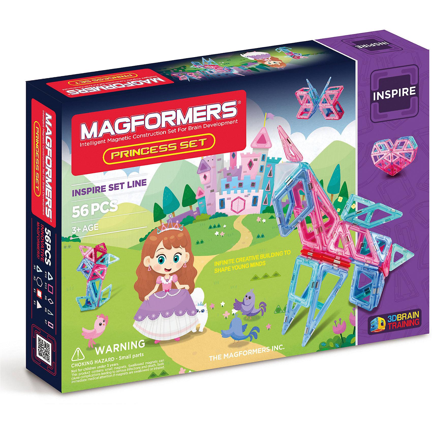 Магнитный конструктор Princess Set, MAGFORMERSЧтобы удивить и порадовать свою маленькую принцессу, купите ей конструктор Princess Set от бренда Магформерс. Данный конструктор, несомненно, понравится малышкам от 1-го года. <br>Элементы набора выполнены в мягких пастельных оттенках, которые нравятся девочкам. Также конструктор содержит светорассеивающую пирамидку и элементы с подсветкой. <br>Собрав волшебный замок, единорога, сердце, цветок и любое друге изделие, можно включить светодиоды и наслаждаться волшебными огоньками подсветки. <br><br>Дополнительная информация:<br><br>- Количество деталей: 56 шт. <br>- Треугольники: 16 шт. <br>- Равнобедренные треугольники: 6 шт. <br>- Квадраты: 13 шт. <br>- Минипрямоугольники: 7 шт. <br>- Ромбы: 6 шт. <br>- Шестиугольники: 2 шт. <br>- Минисектор: 4 шт. <br>- Светодиод: 1 шт. <br>- Треугольная светорассеивающая пирамида: 1 шт. <br>- Возраст: от 1 года <br>- Материал: высококачественный пластик <br>- Размер упаковки: 54х31х10 см <br>- Вес в упаковке: 1.5 кг. <br><br>Купить магнитный конструктор Princess Set MAGFORMERS можно в нашем магазине.<br><br>Ширина мм: 320<br>Глубина мм: 440<br>Высота мм: 60<br>Вес г: 1375<br>Возраст от месяцев: 36<br>Возраст до месяцев: 192<br>Пол: Унисекс<br>Возраст: Детский<br>SKU: 4730850