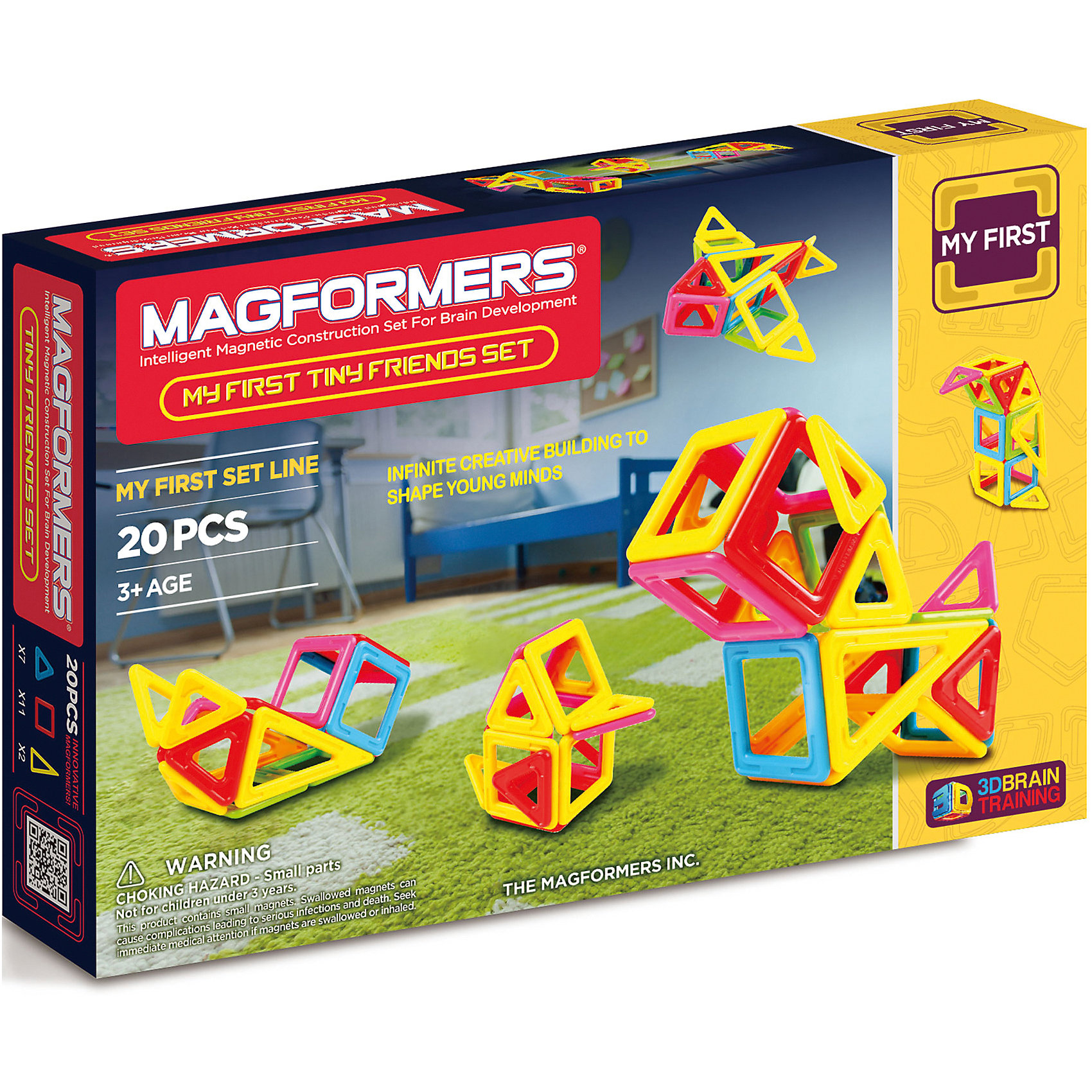 MAGFORMERS Магнитный конструктор Tiny Friends, MAGFORMERS magformers tiny friends