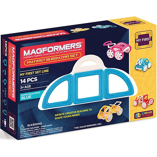 Магнитный конструктор My First Buggy, желтый, MAGFORMERSМагнитные конструкторы<br>Набор My First Buggy Car Set из серии Мой Первый Магформерс отлично подойдет для начала знакомства с развивающим конструктором!<br> Он включает в себя великолепно иллюстрированные карточки, которые познакомят Вас с принципами конструирования из Магформерс и покажут, как собрать разнообразные машинки Багги - для передвижения по песчаным прибрежным дюнам, для гонок по бездорожью или по пересеченной местности. Детали выполнены в ярких тонах: желтый, голубой, красный и розовый с одной стороны и белый цвет с другой стороны. Необычные приключения ждут Вашего ребенка с новым набором Magformers My First Buggy Car Set<br><br>Дополнительная информация:<br><br>- Количество деталей: 14 шт. <br>- Квадраты: 2 шт. <br>- Суперпрямоугольники: 1 шт. <br>- Секторы: 4 шт. <br>- Арки: 2 шт. <br>- Половина арки: 1 шт. <br>- Полукруг: 2 шт. <br>- Пара колес: 2 шт. <br>- Возраст: от 3 лет <br>- Цвет: желтый.<br>- Материал: прочный пластик <br>- Размер упаковки: 34х12х2 см <br>- Вес в упаковке: 0.4 кг. <br><br>Купить магнитный конструктор My First Buggy MAGFORMERS желтого цвета, можно в нашем магазине.<br>Ширина мм: 180; Глубина мм: 270; Высота мм: 80; Вес г: 650; Возраст от месяцев: 36; Возраст до месяцев: 192; Пол: Унисекс; Возраст: Детский; SKU: 4730852;