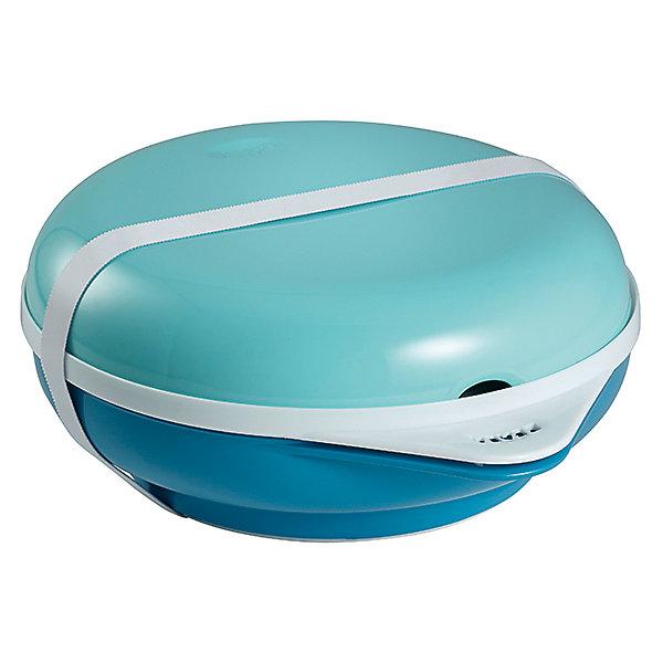 Набор посуды: тарелка+крышка, вилка+ложка  ELLIPSE, Beaba, синийДетские наборы посуды<br>Для обеспечения каждого малыша питанием с момента его рождения требуется специальная посуда. На помощь родителям придет разработанная профессионалами посуда. Этот набор для кормления позволит даже в дороге покормить малыша с удобством. В комплекте: ланч-бокс с отдельным подогревающим элементом, удобная тарелка с высокими краями и с противоскользящей резиновой подставкой, резинка для закрывания, крышка с креплениями, вилка, ложка.<br>Можно подогреть специальный вкладыш из донышка тарелки в микроволновке всего полминуты или две минуты на водяной бане - и можно легко поддерживать нужную температуру еды. Герметичная крышка защищает от разбрызгивания при подогреве в микроволновой печи и имеет крепления для приборов. Можно мыть вручную и в посудомоечной машине. Сделана посуда из высококачественных и безопасных для малышей материалов.<br><br>Дополнительная информация:<br><br>цвет: синий;<br>материал: пластик;<br>комплектация: ланч-бокс с подогревающим элементом, тарелка, резинка для закрывания, крышка с креплениями, вилка, ложка.<br><br>Набор посуды: тарелка+крышка, вилка+ложка ELLIPSE, синий, от компании Beaba можно купить в нашем магазине.<br>Ширина мм: 190; Глубина мм: 80; Высота мм: 220; Вес г: 600; Возраст от месяцев: 6; Возраст до месяцев: 36; Пол: Унисекс; Возраст: Детский; SKU: 4732005;