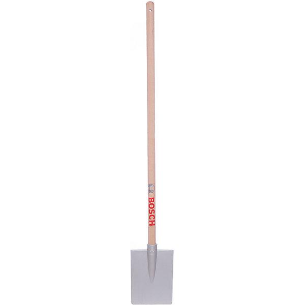 Лопата садовая Bosch, серебряная, KleinХоккей и зимний инвентарь<br>Лопата садовая Bosch, Klein (Кляйн) незаменима для детей, которые любят помогать взрослым.  Копать грядки, помогать строить, а может даже отправиться на поиски сокровищ - всё это возможно с универсальной лопатой Bosch, представляющей собой точную копию настоящей лопаты. Удобная ручка не будет выскальзывать из рук ребенка. Отличное решение для приучения ребенка к помощи взрослым!<br><br>Дополнительная информация:<br>Материал: пластик<br>Размер: 86x6,6 x2 см<br><br>Лопату садовая Bosch, серебряную, Klein вы можете купить в нашем интернет-магазине.<br>Ширина мм: 870; Глубина мм: 120; Высота мм: 20; Вес г: 260; Возраст от месяцев: 36; Возраст до месяцев: 84; Пол: Унисекс; Возраст: Детский; SKU: 4732081;