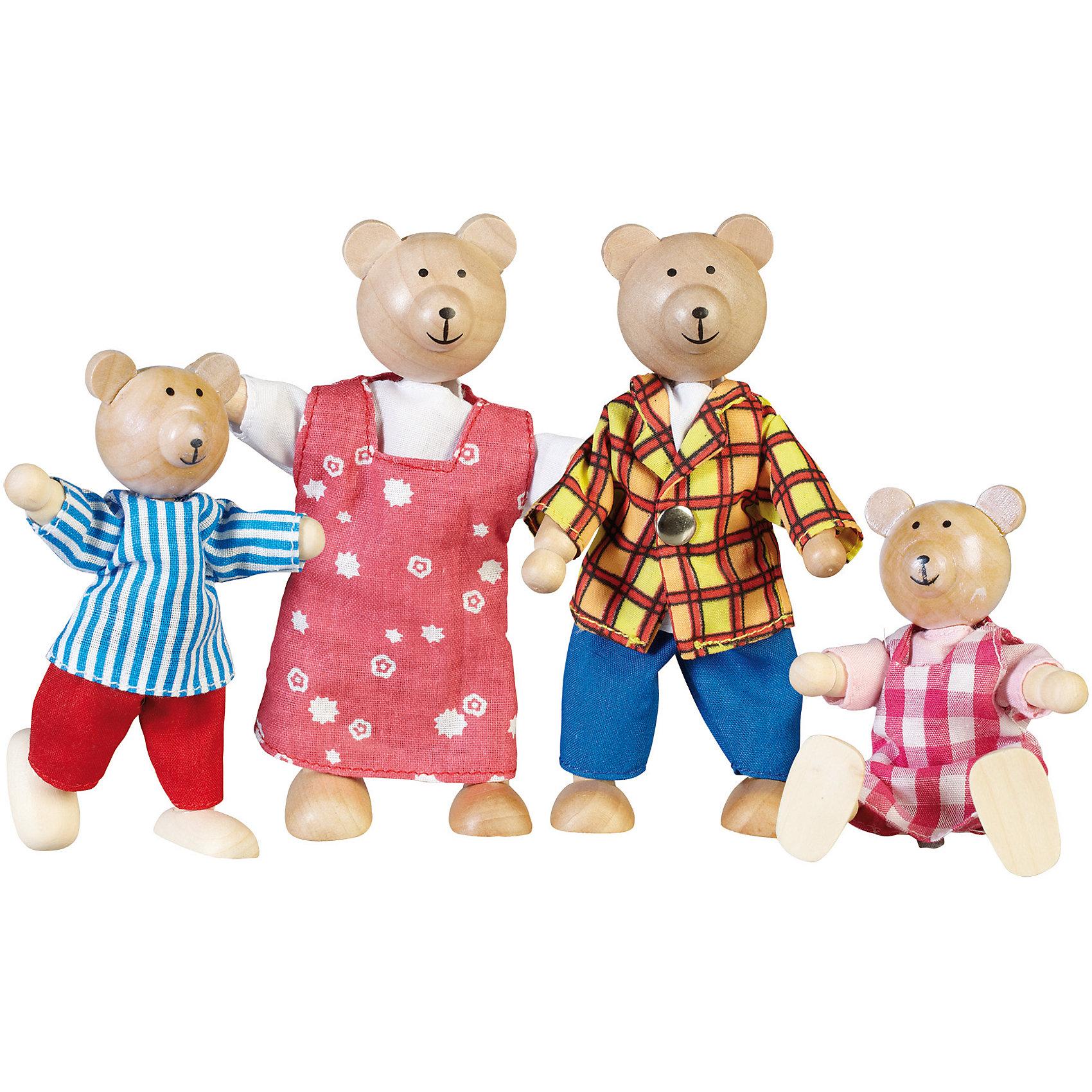 Куклы Семья медведей, GOKIДеревянные куклы, домики и мебель<br>Производитель: Германия<br><br>Возраст: от 3-х лет<br><br>Материалы: дерево<br><br>Размеры: 9,5-12 см, вес набора 0,16 кг<br><br>Ширина мм: 150<br>Глубина мм: 125<br>Высота мм: 40<br>Вес г: 160<br>Возраст от месяцев: 36<br>Возраст до месяцев: 96<br>Пол: Унисекс<br>Возраст: Детский<br>SKU: 4732384