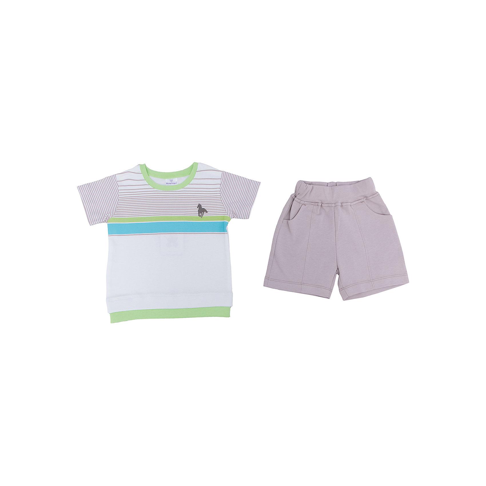 Комплект для мальчика МамуляндияКомплекты<br>Комплект одежды (футболки, шорты) из дизайнерской коллекции для мальчиков Поло, выполнен из трикотажноготна высшего качества (интерлок пенье).  Декорирован  гипоаллергенным принтом на водной основе. Удобное расположение кнопок для переодевания малыша. Стирать при температуре 40, носить с удовольствием. 100% хлопок<br><br>Ширина мм: 157<br>Глубина мм: 13<br>Высота мм: 119<br>Вес г: 200<br>Цвет: разноцветный<br>Возраст от месяцев: 3<br>Возраст до месяцев: 6<br>Пол: Мужской<br>Возраст: Детский<br>Размер: 68,92,74,80,86<br>SKU: 4735631